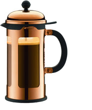 Load image into Gallery viewer, Chamboard French Press Coffee Maker, 8 Cup, 1.0 Liter, 34oz, s/s Copper