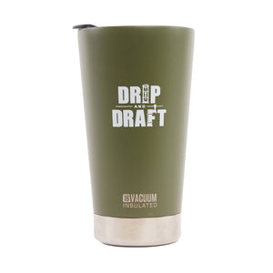 Drip and Draft X Klean Kanteen Insulated Tumbler 16oz (Olive)