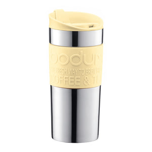 TRAVEL MUG Vacuum travel mug, small, 0.35 l, 12 oz, s/s YELLOW