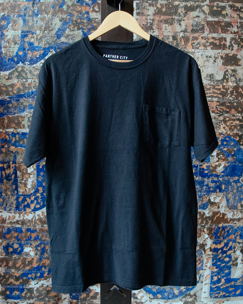 Garment Dyed Pocket Tee - Black