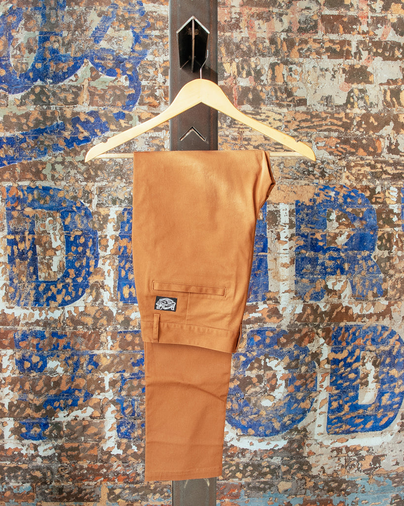 Slim Fit Chino Pants - Rust