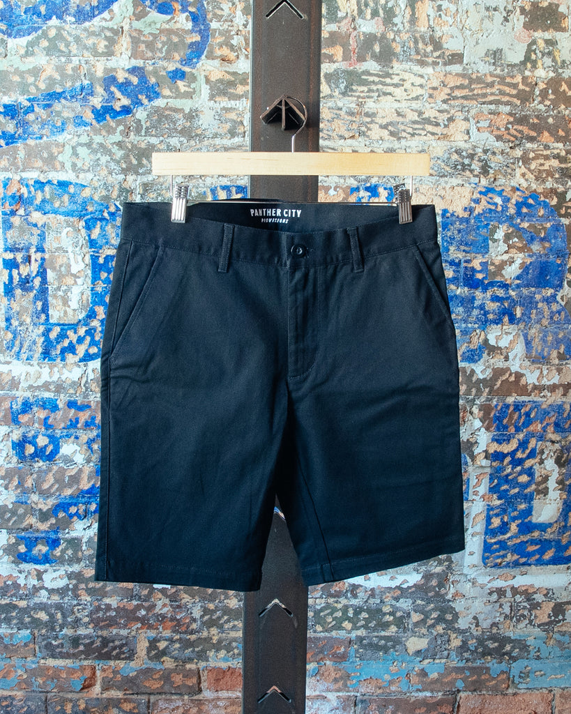 Slim Fit Chino Shorts - Black