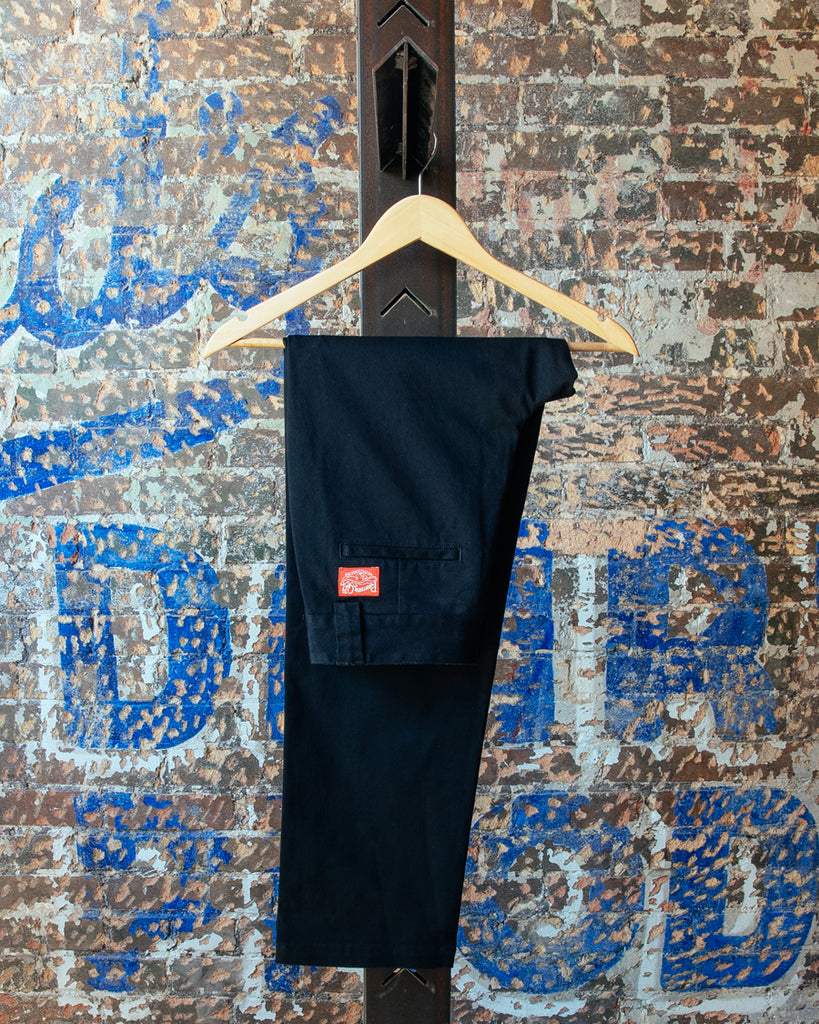 Straight Leg Chino Pants - Black