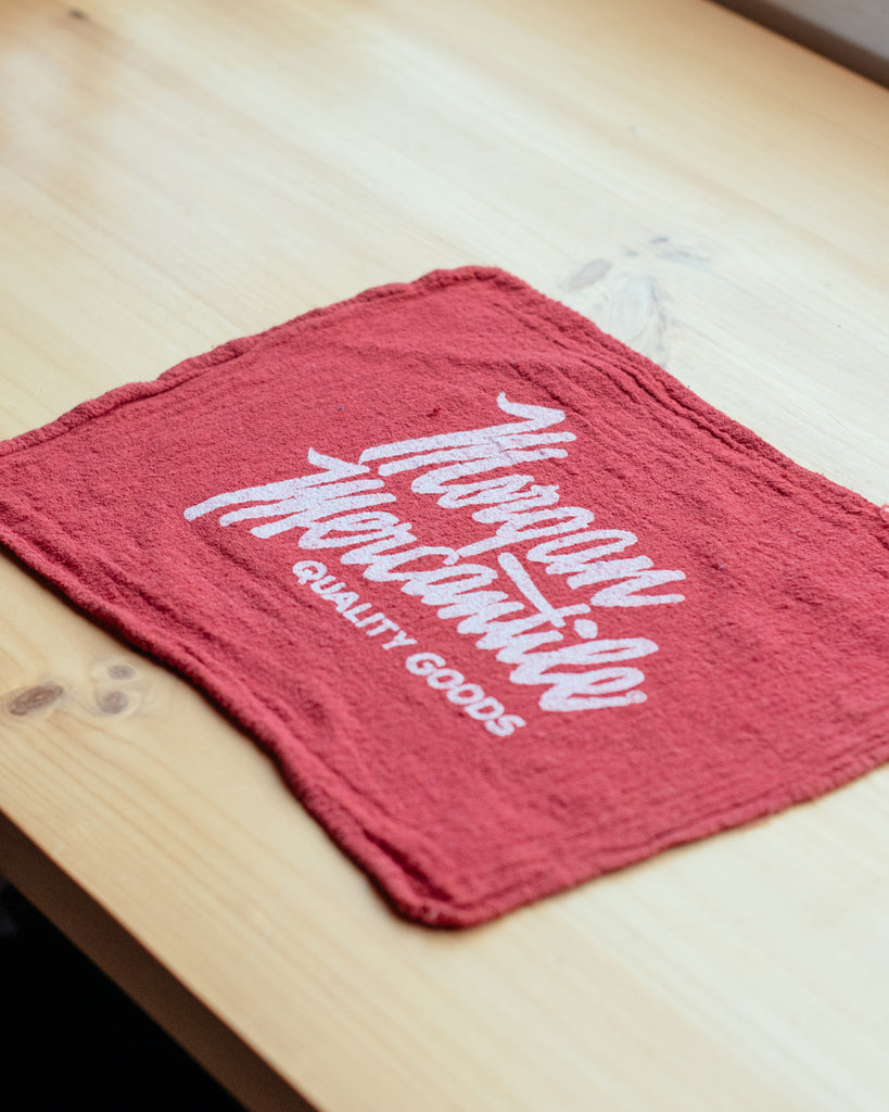 Morgan Mercantile Shop Rag - Red