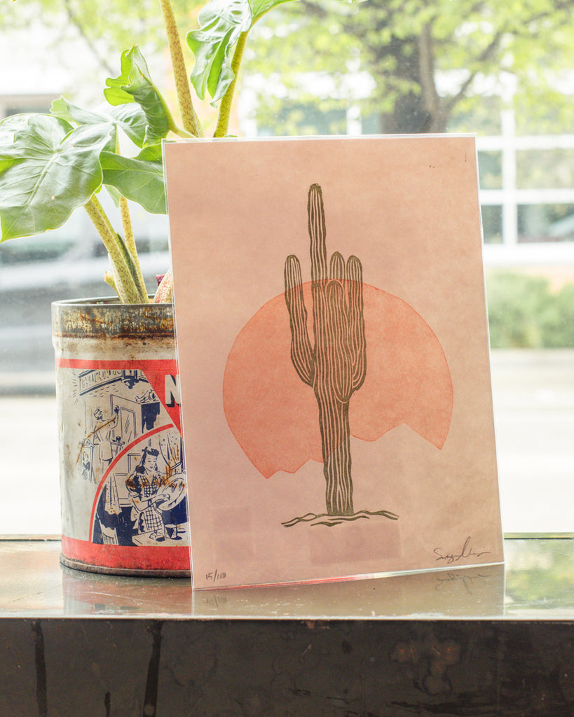 Ordinary Press Cactus Print