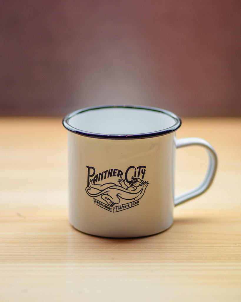 Panther City Provisions Camp Mug - White