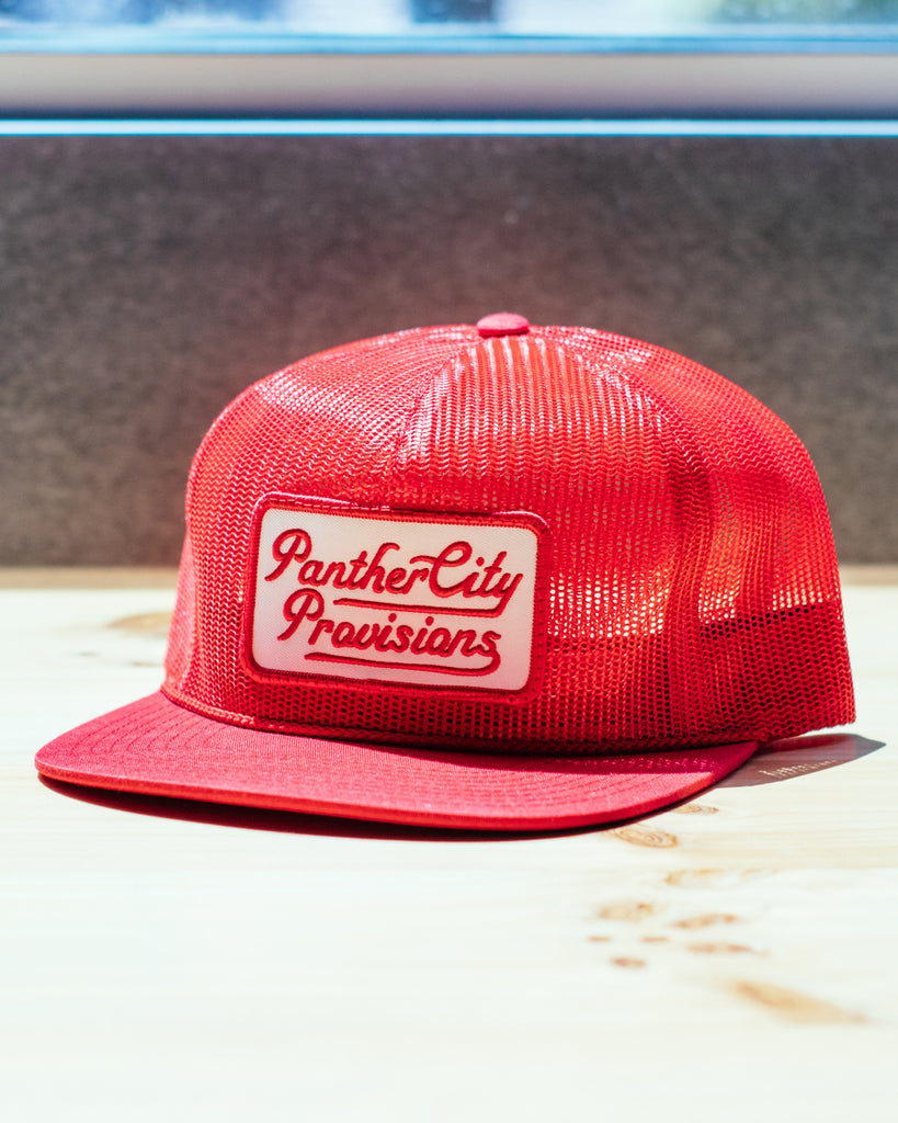 Panther City Provisions Full Mesh Patch Hat - Red