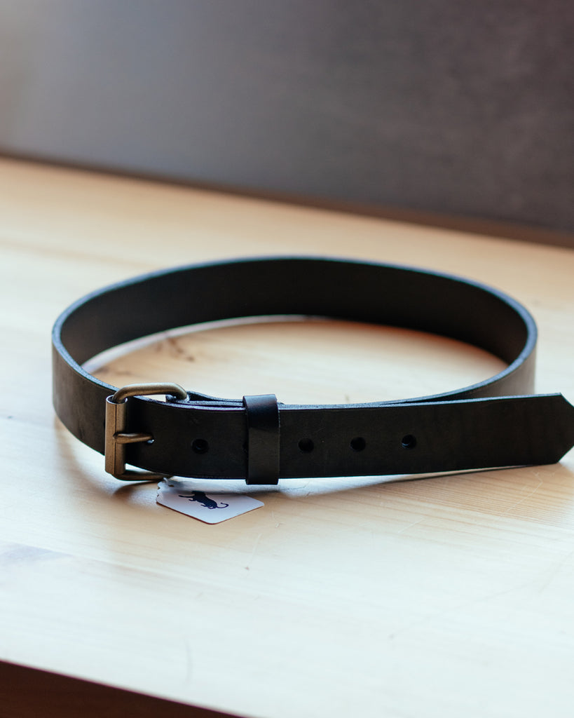 Panther City Provisions Standard Leather Belt - Black