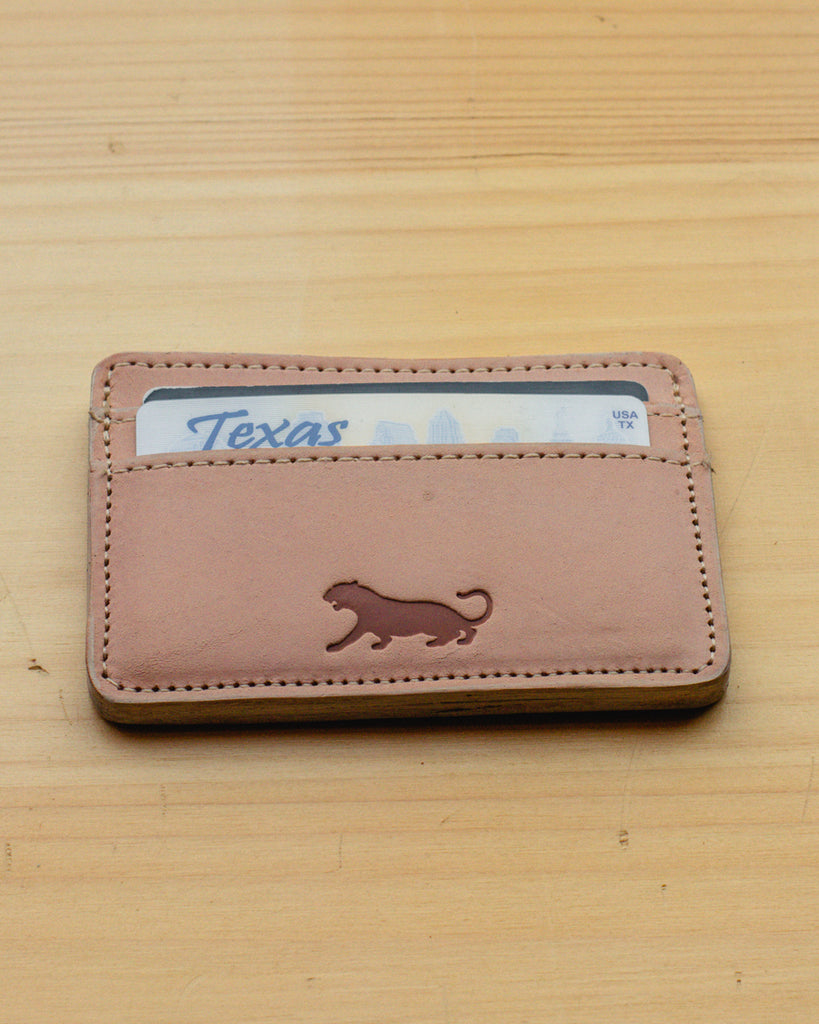 Panther City Provisions Slim Leather Wallet - Natural