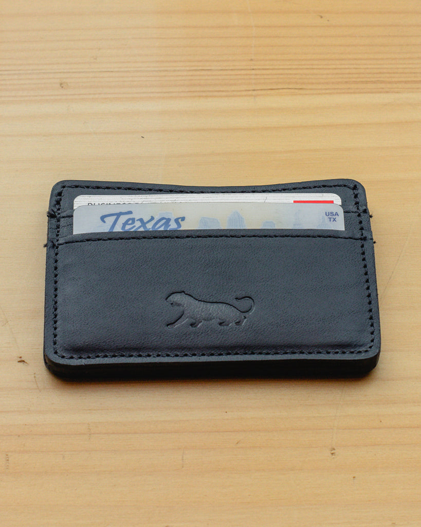 Panther City Provisions Slim Leather Wallet - Black