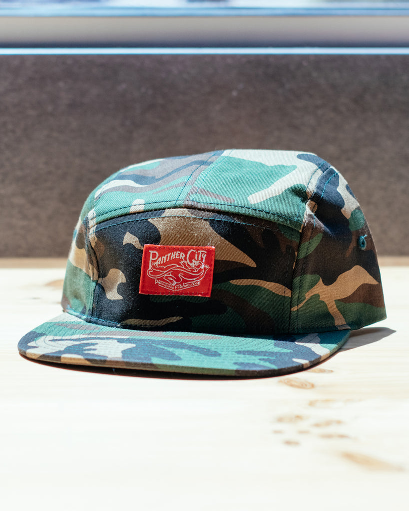 Panther City Provisions Camo 5 Panel Hat