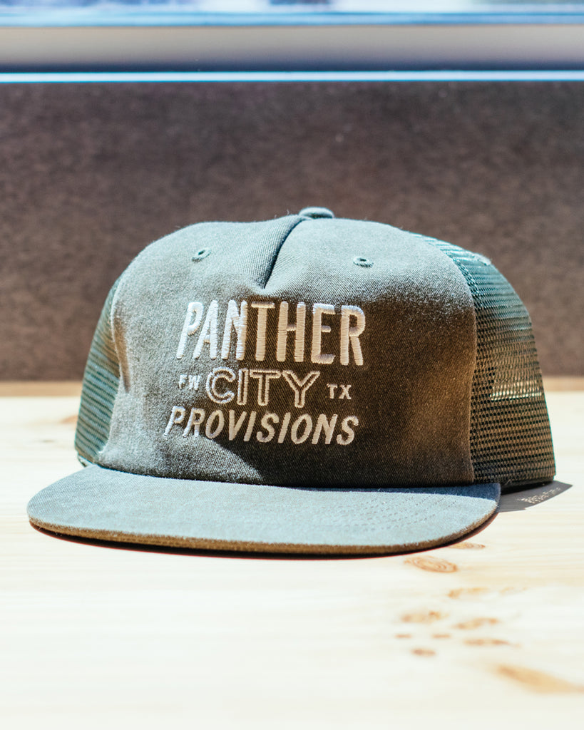 Panther City Provisions Washed Trucker Hat