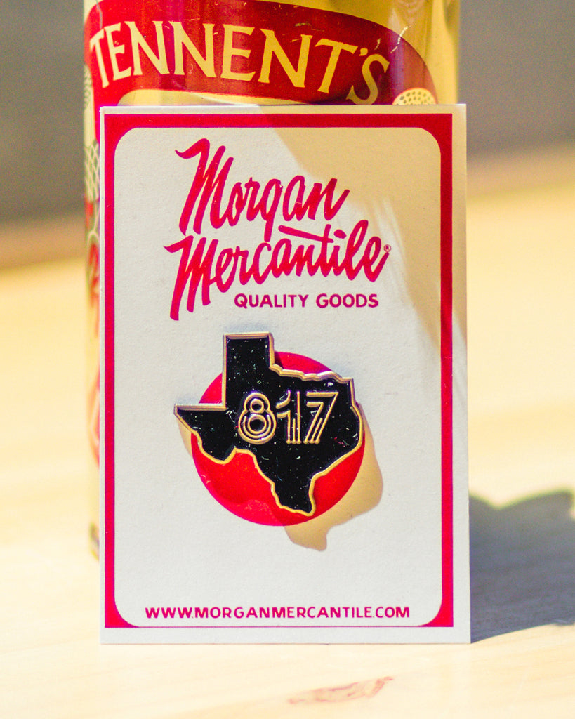 Texas 817 Enamel Pin