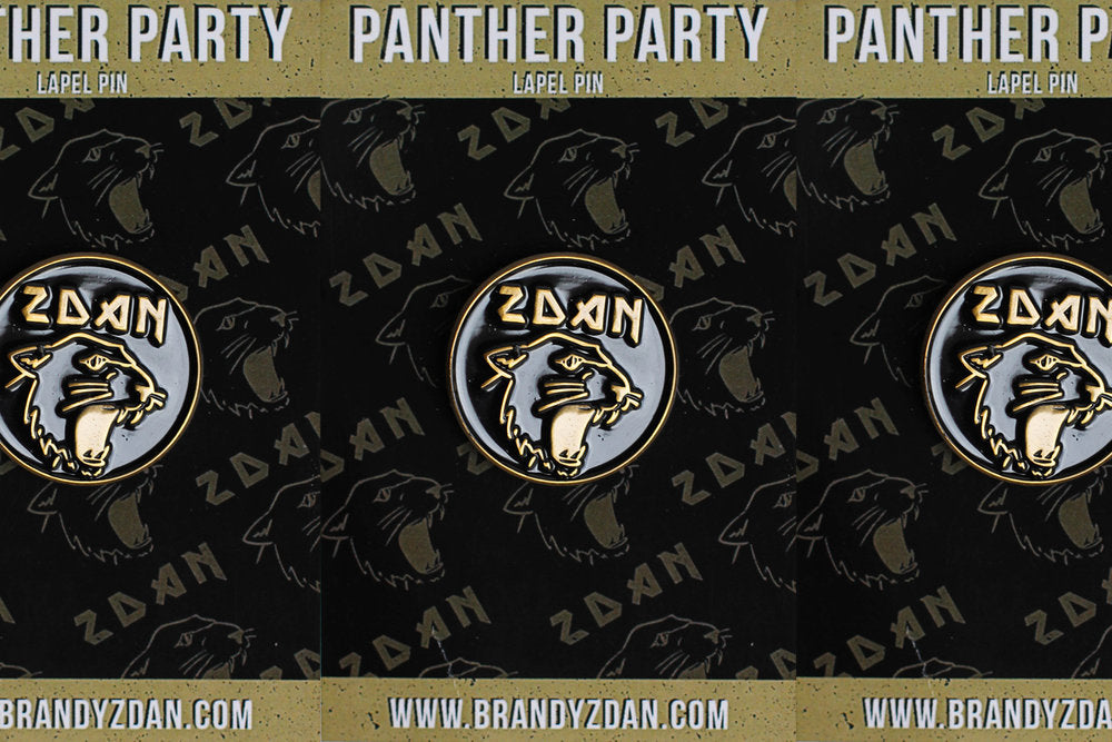 Brandy Zdan - Panther Party Enamel Pin