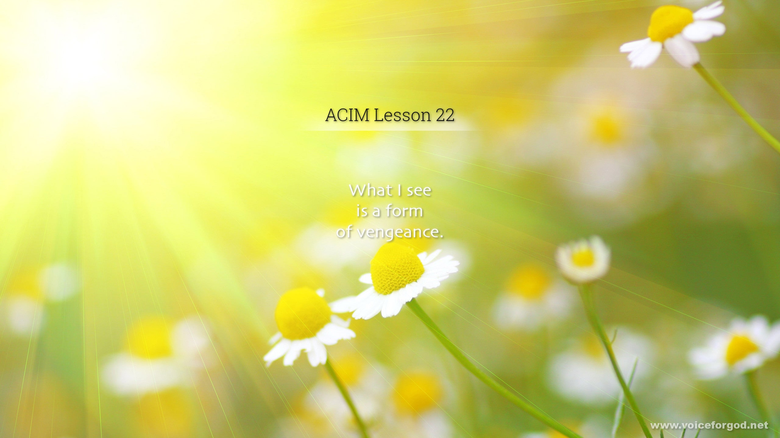 ACIM Lesson 22 - A Course in Miracles Workbook Lesson 22