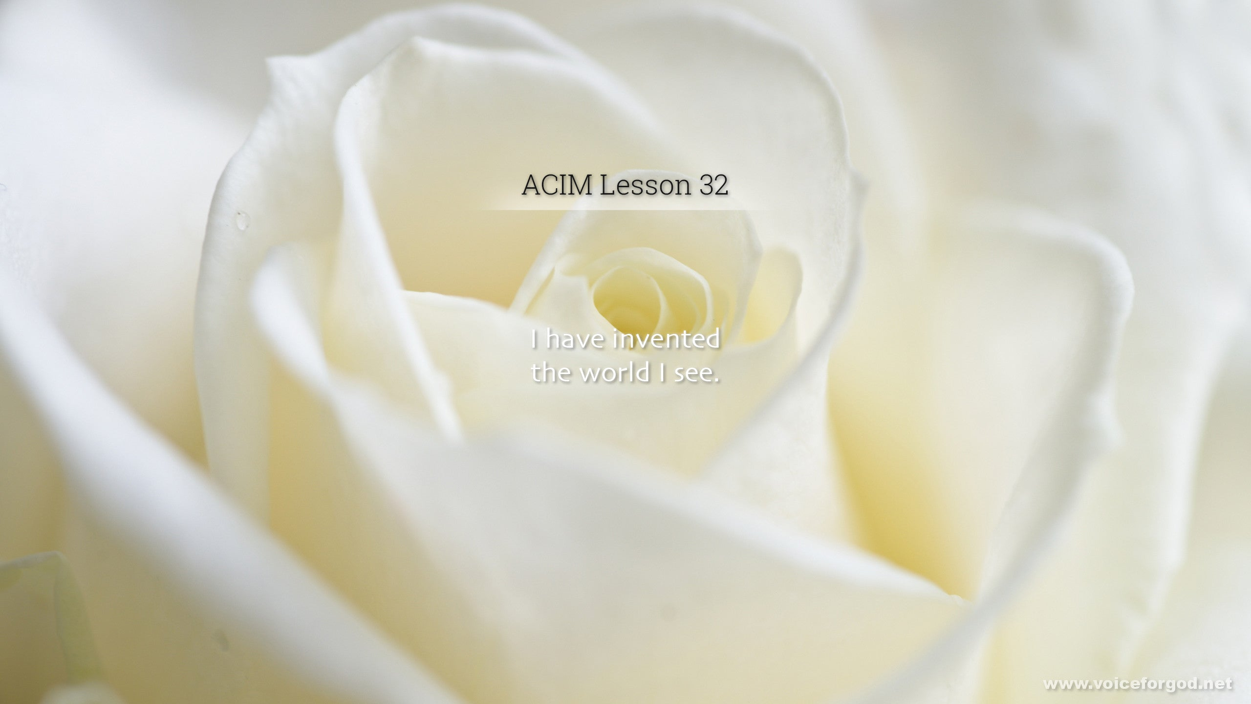 ACIM Lesson 32 - A Course in Miracles Workbook Lesson 32