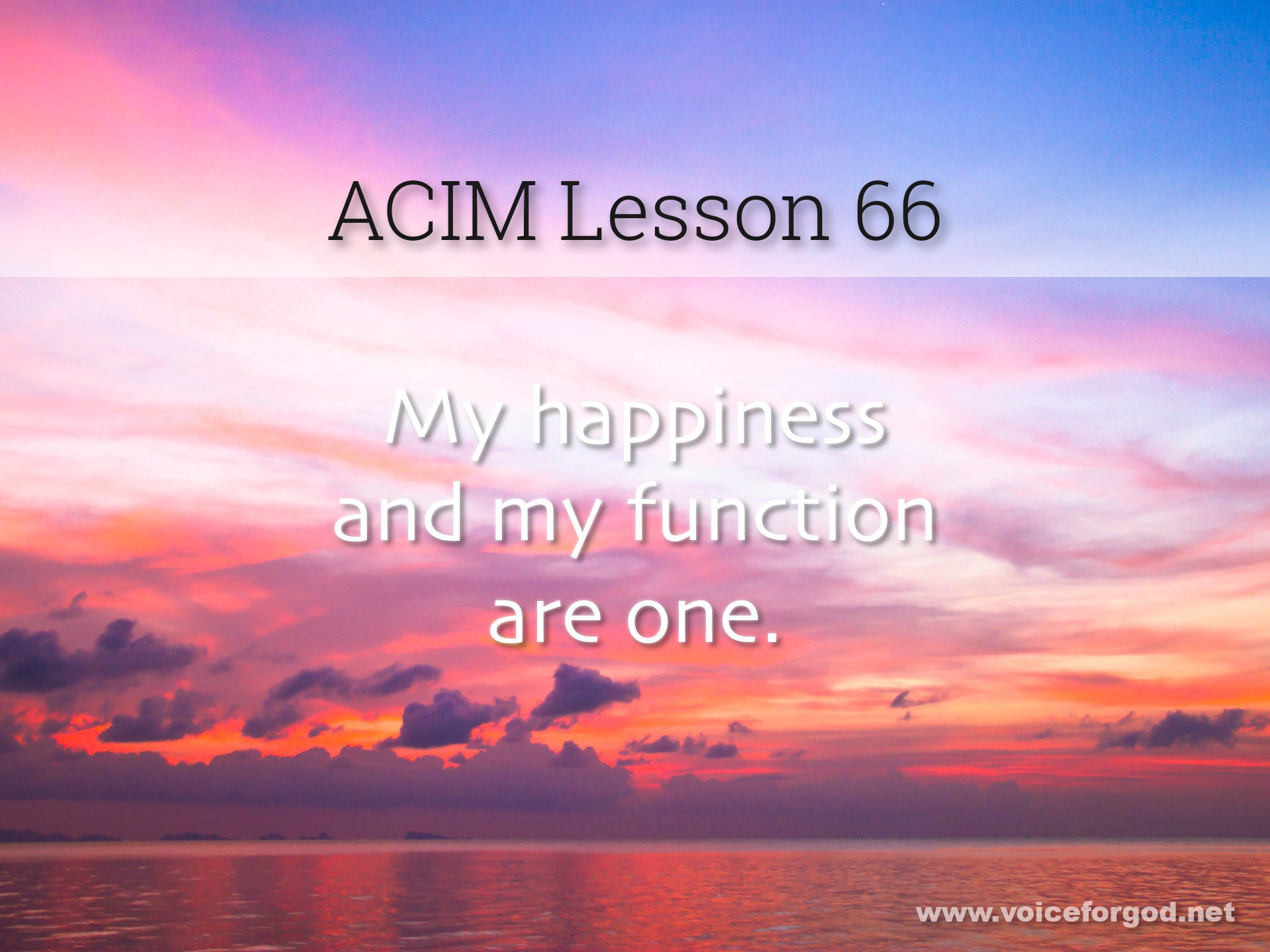 ACIM Lesson 66 - A Course in Miracles Workbook Lesson 66
