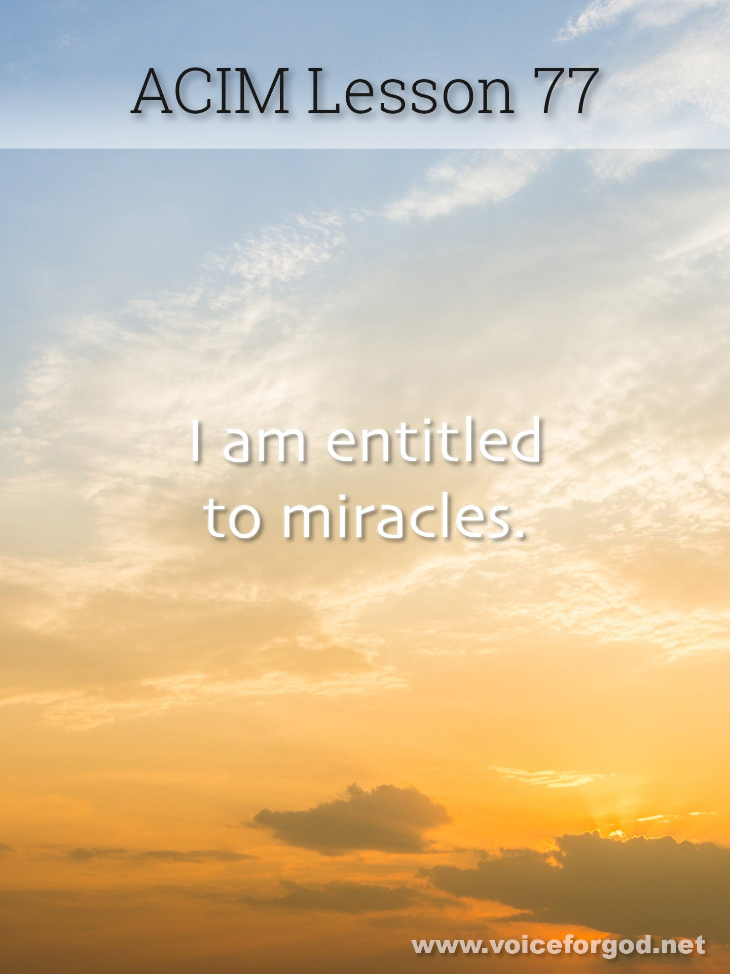 ACIM Lesson 77 - A Course in Miracles Workbook Lesson 77