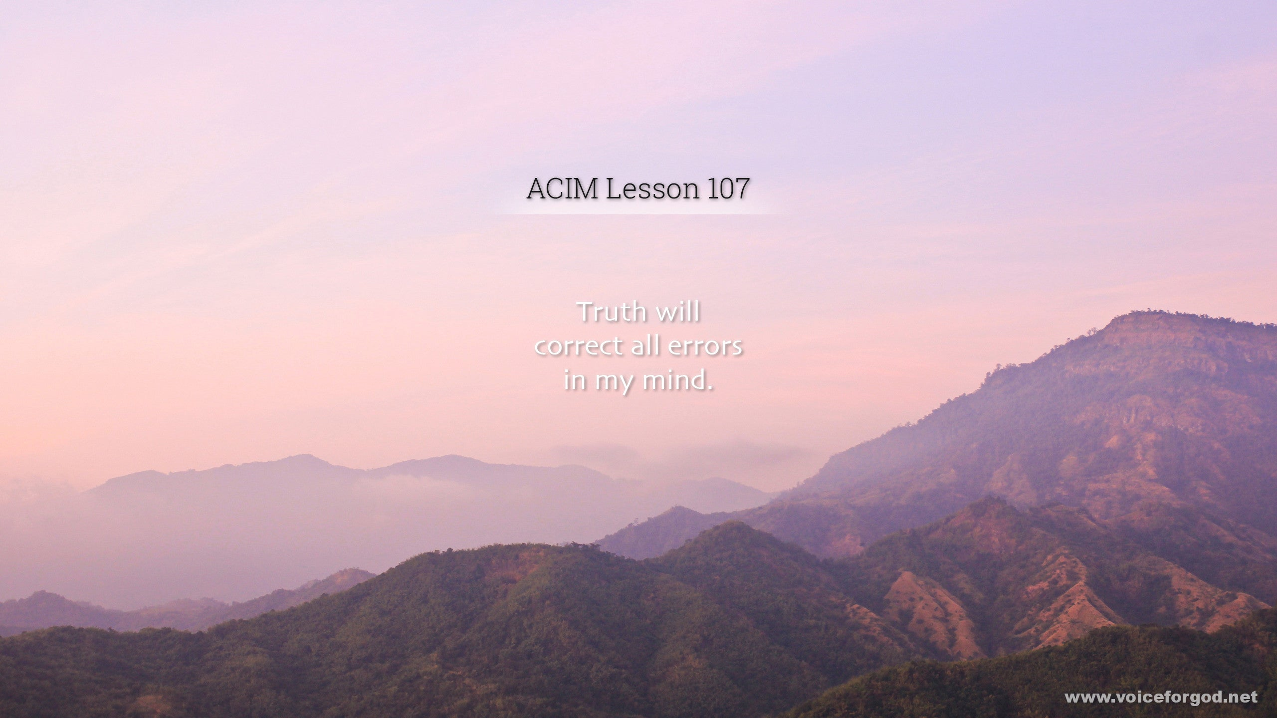 ACIM Lesson 107 - A Course in Miracles Workbook Lesson 107