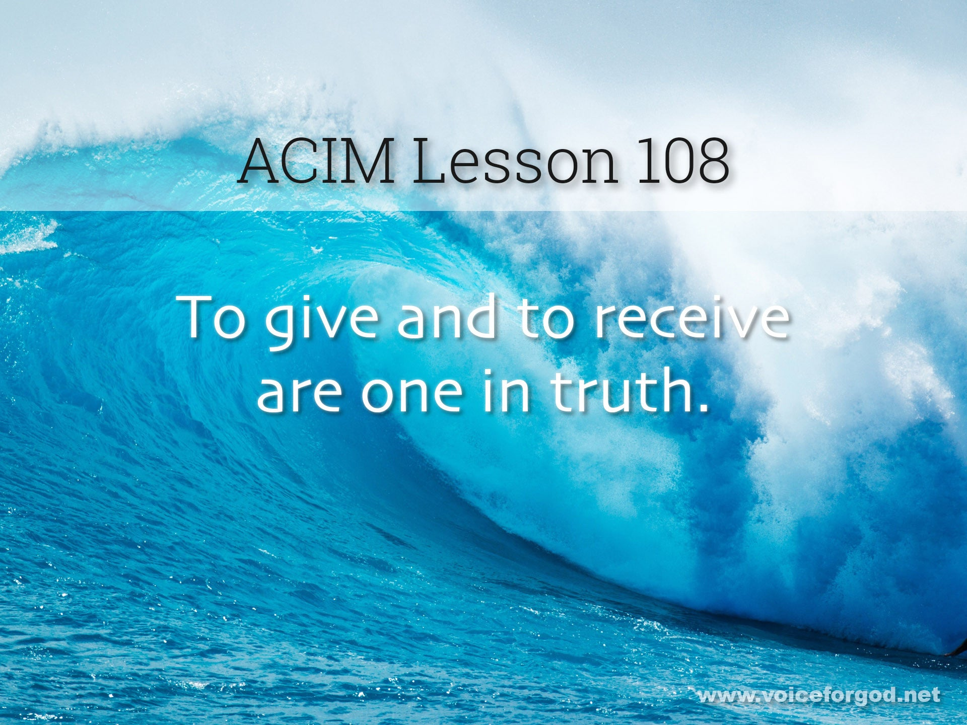 ACIM Lesson 108 - A Course in Miracles Workbook Lesson 108