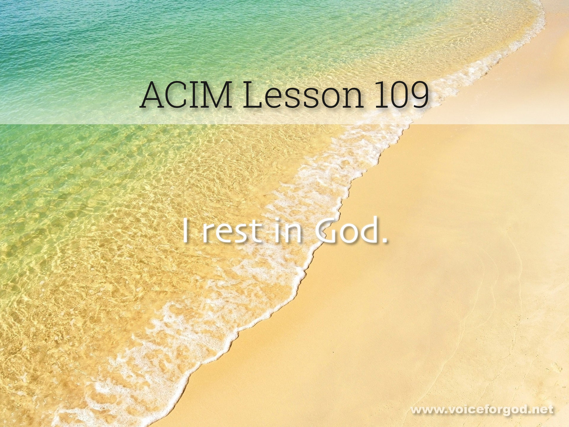 ACIM Lesson 109 - A Course in Miracles Workbook Lesson 109