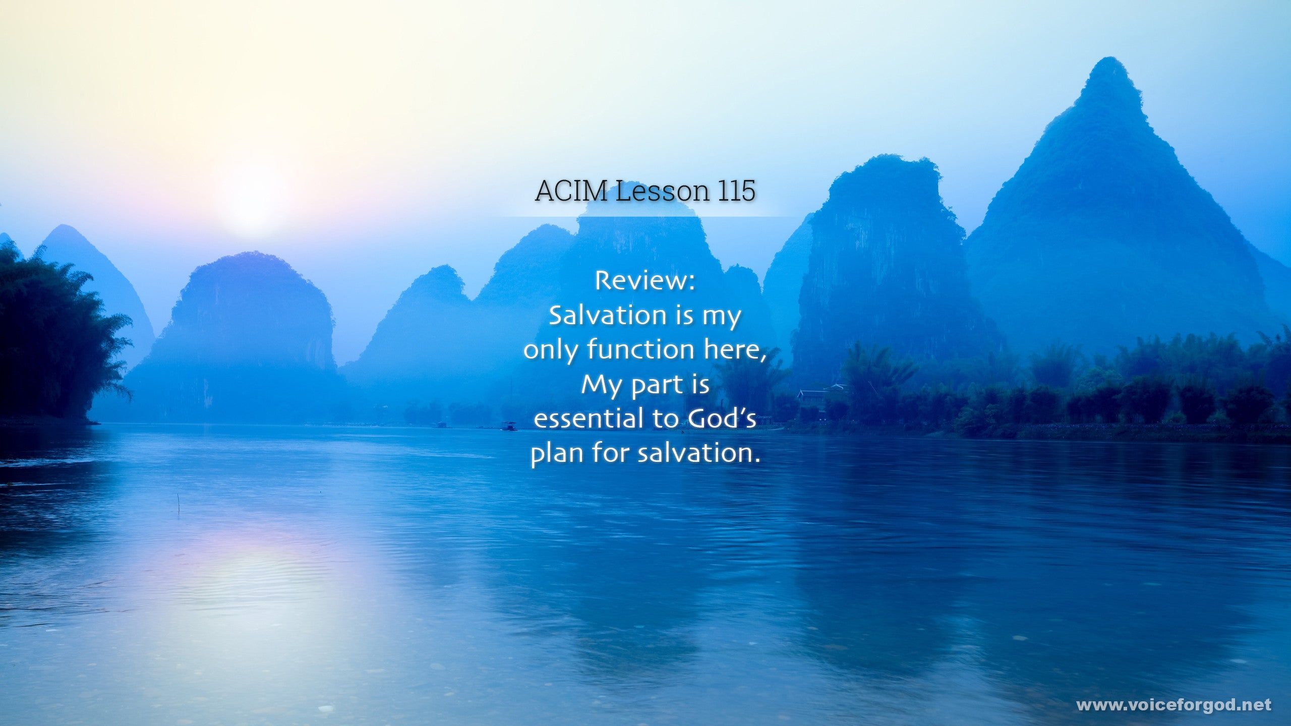 ACIM Lesson 115 - A Course in Miracles Workbook Lesson 115
