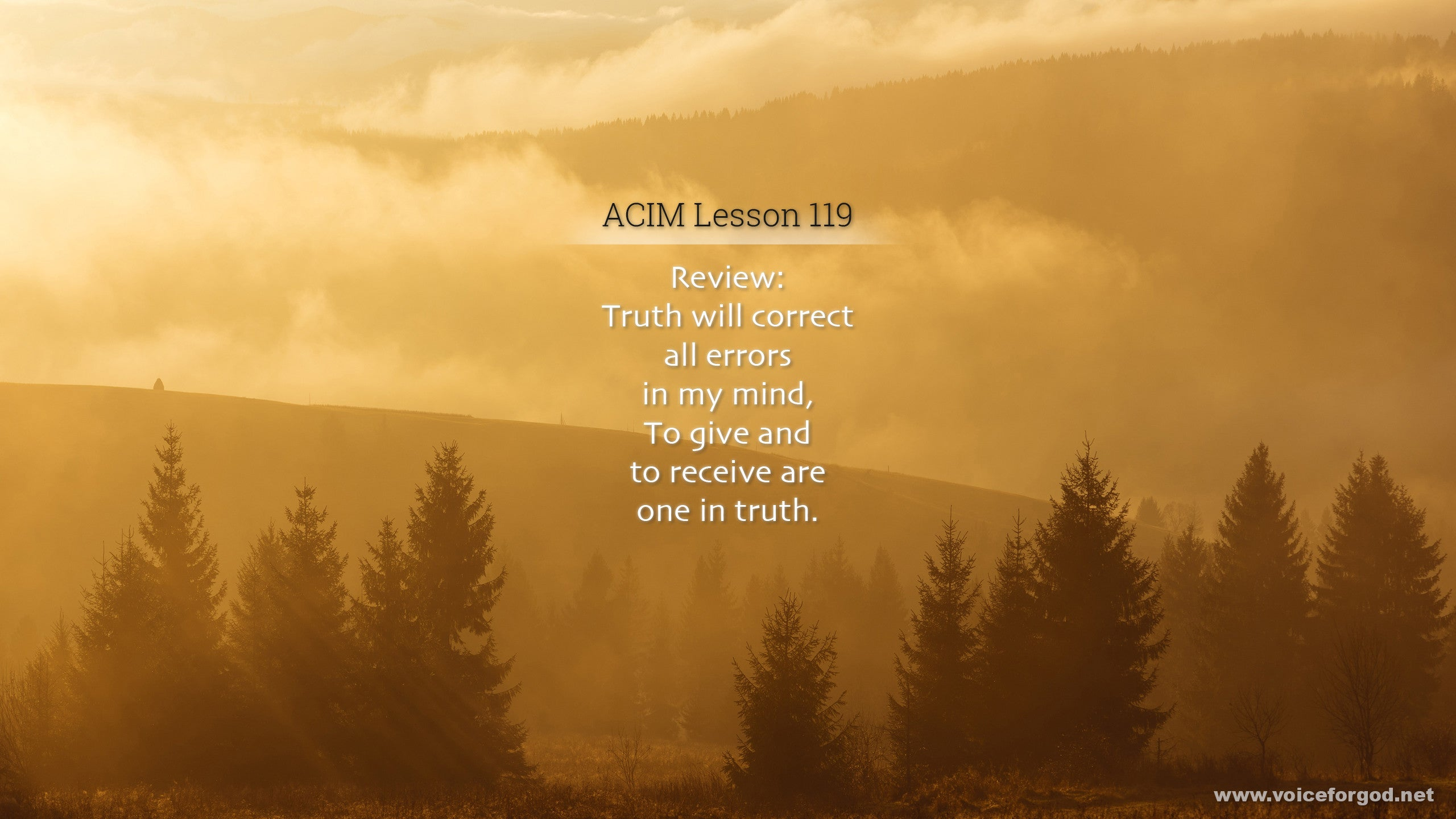 ACIM Lesson 119 - A Course in Miracles Workbook Lesson 119