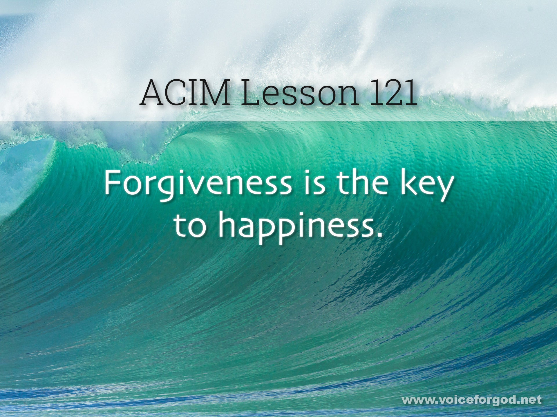 ACIM Lesson 121 - A Course in Miracles Workbook Lesson 121