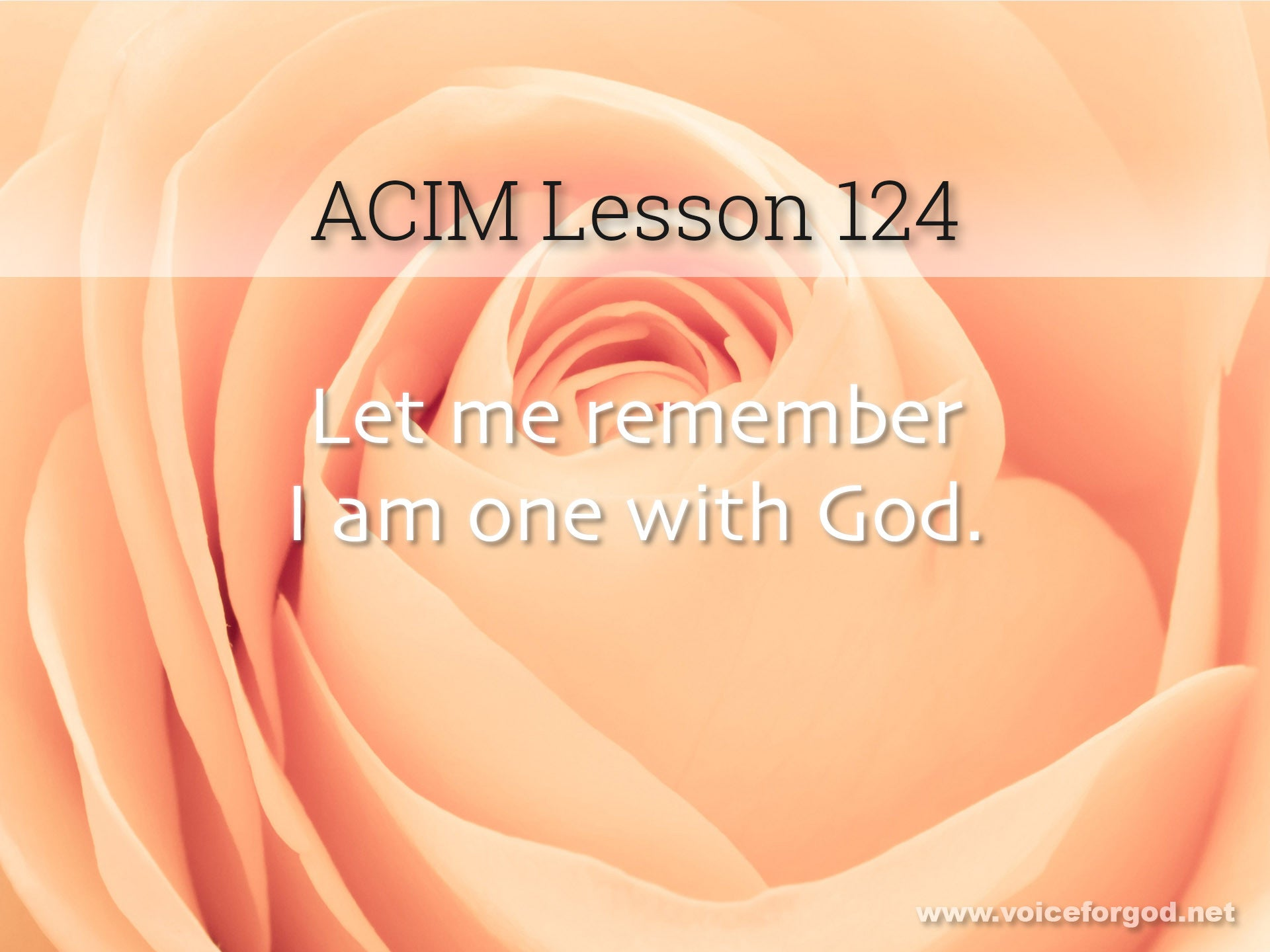 ACIM Lesson 124 - A Course in Miracles Workbook Lesson 124