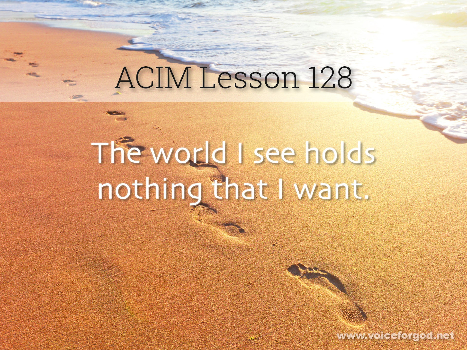 ACIM Lesson 128 - A Course in Miracles Workbook Lesson 128
