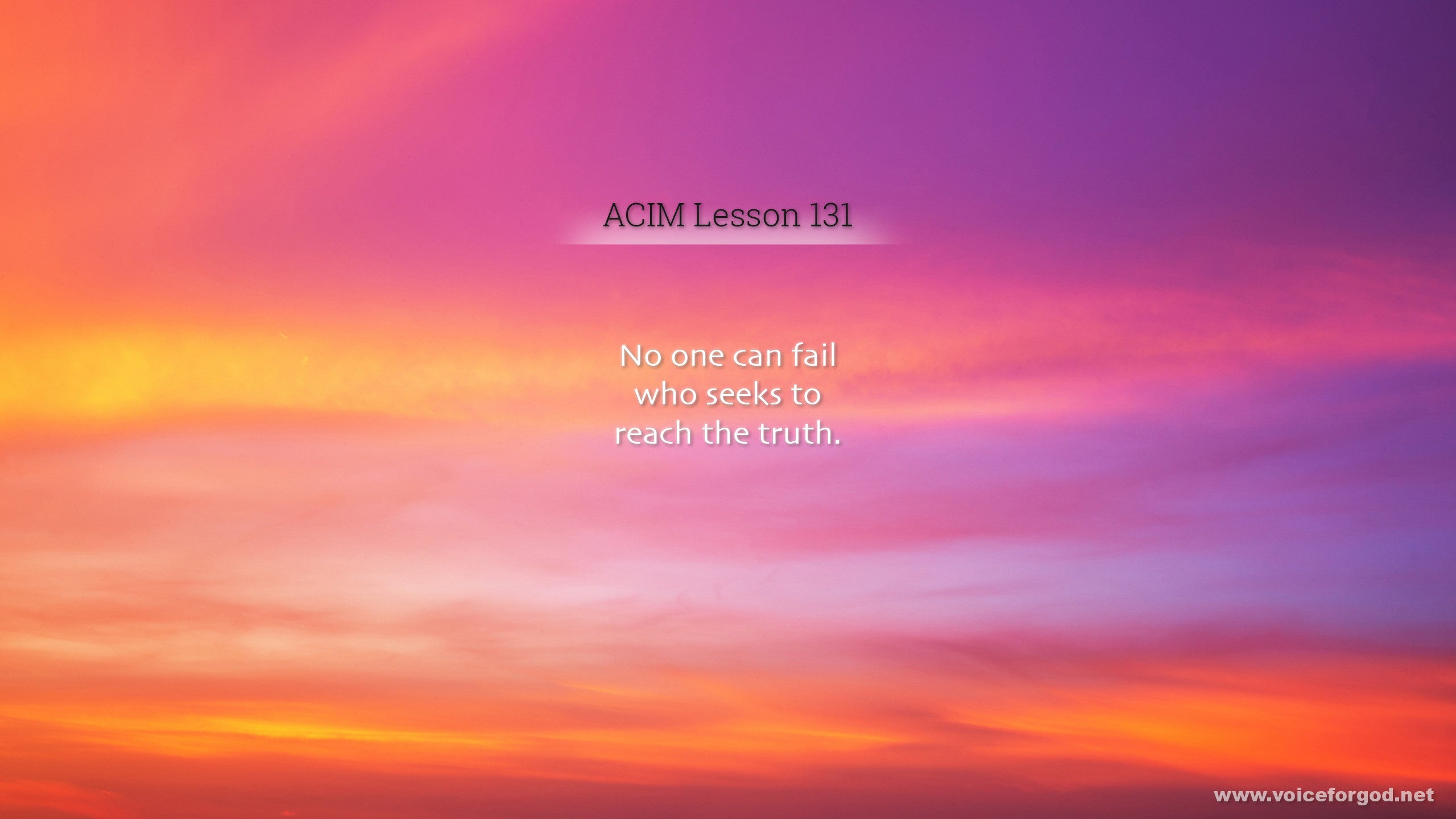 ACIM Lesson 131 - A Course in Miracles Workbook Lesson 131