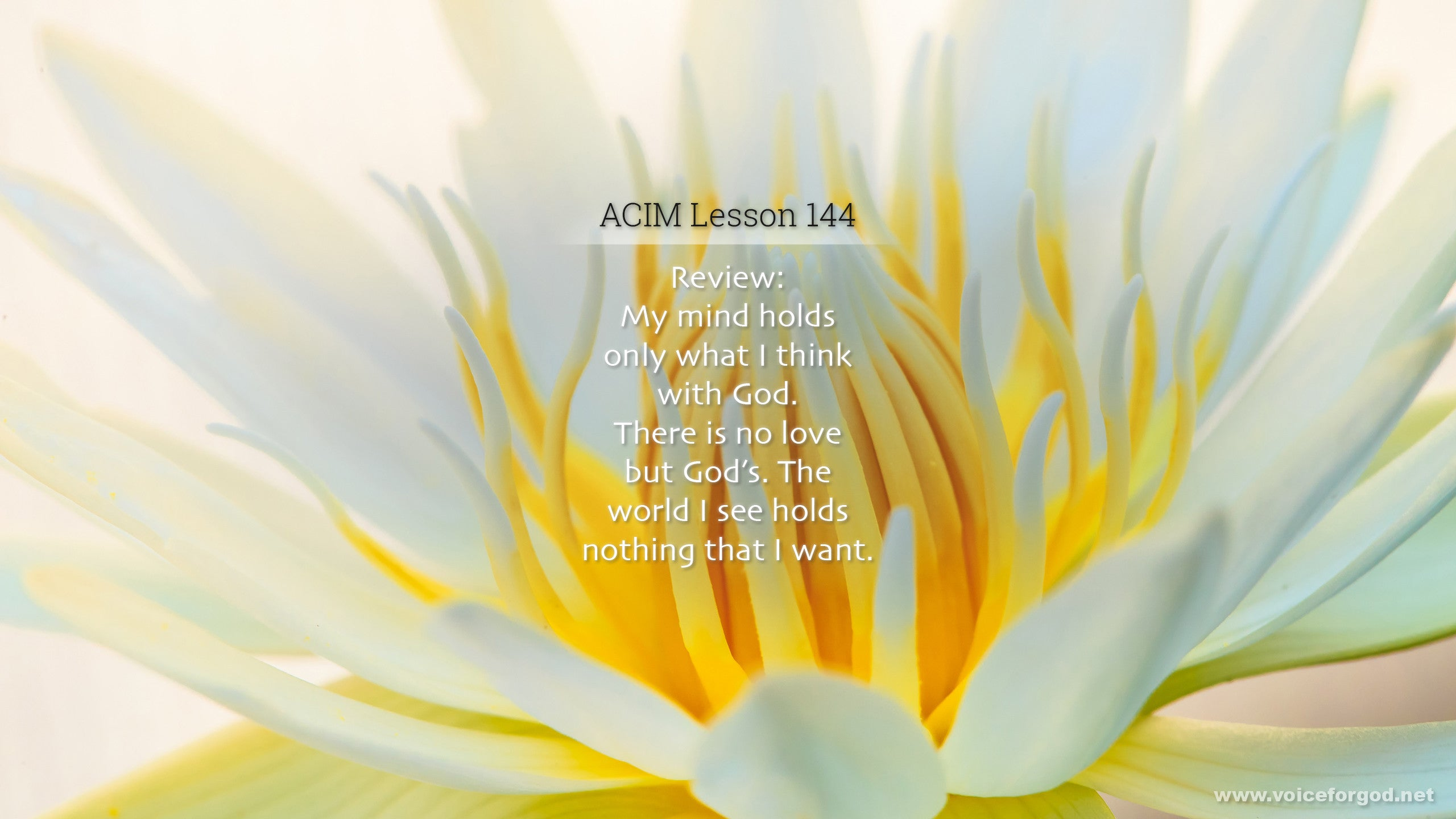 ACIM Lesson 144 - A Course in Miracles Workbook Lesson 144