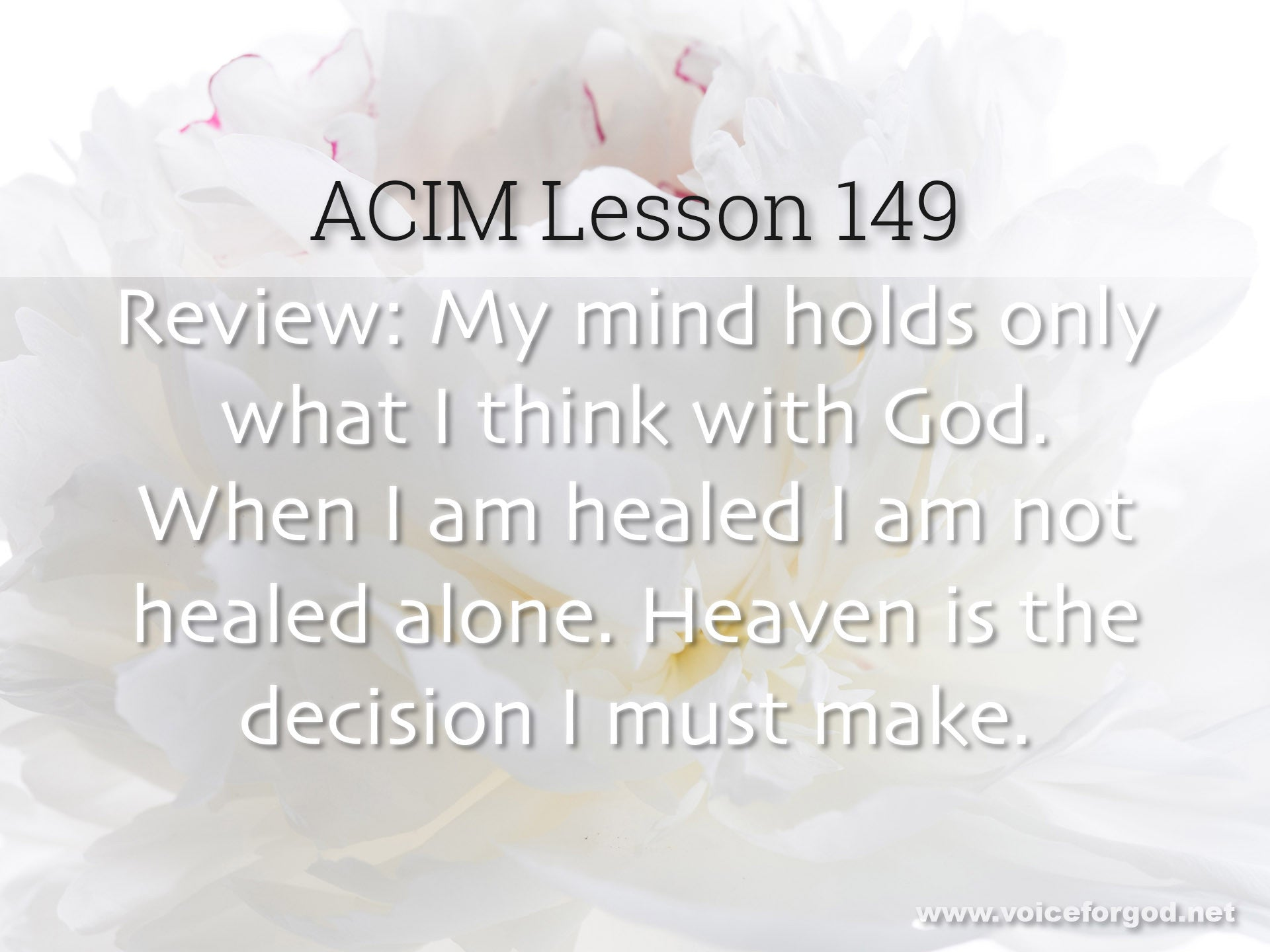 ACIM Lesson 149 - A Course in Miracles Workbook Lesson 149