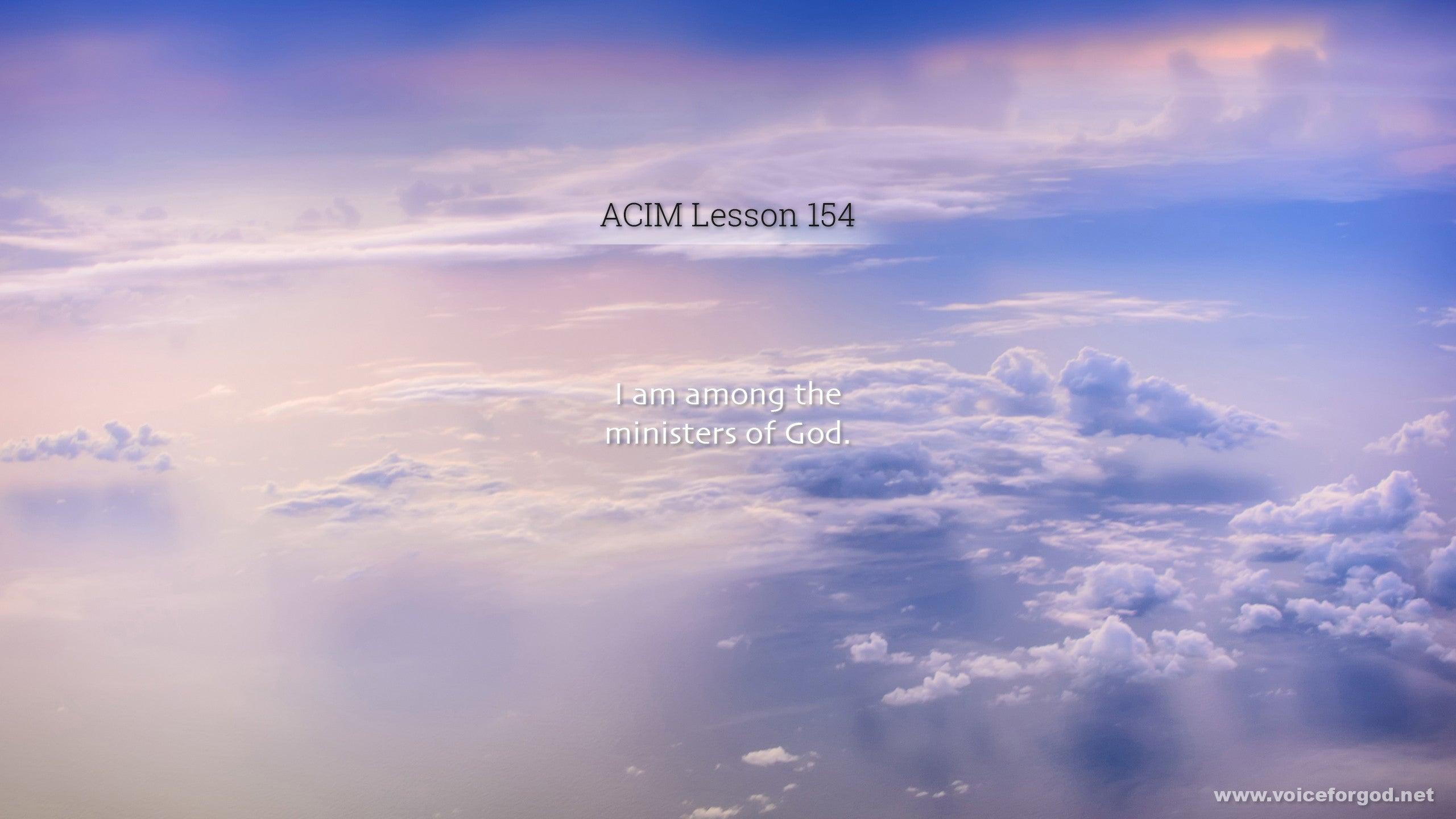 ACIM Lesson 154 - A Course in Miracles Workbook Lesson 154