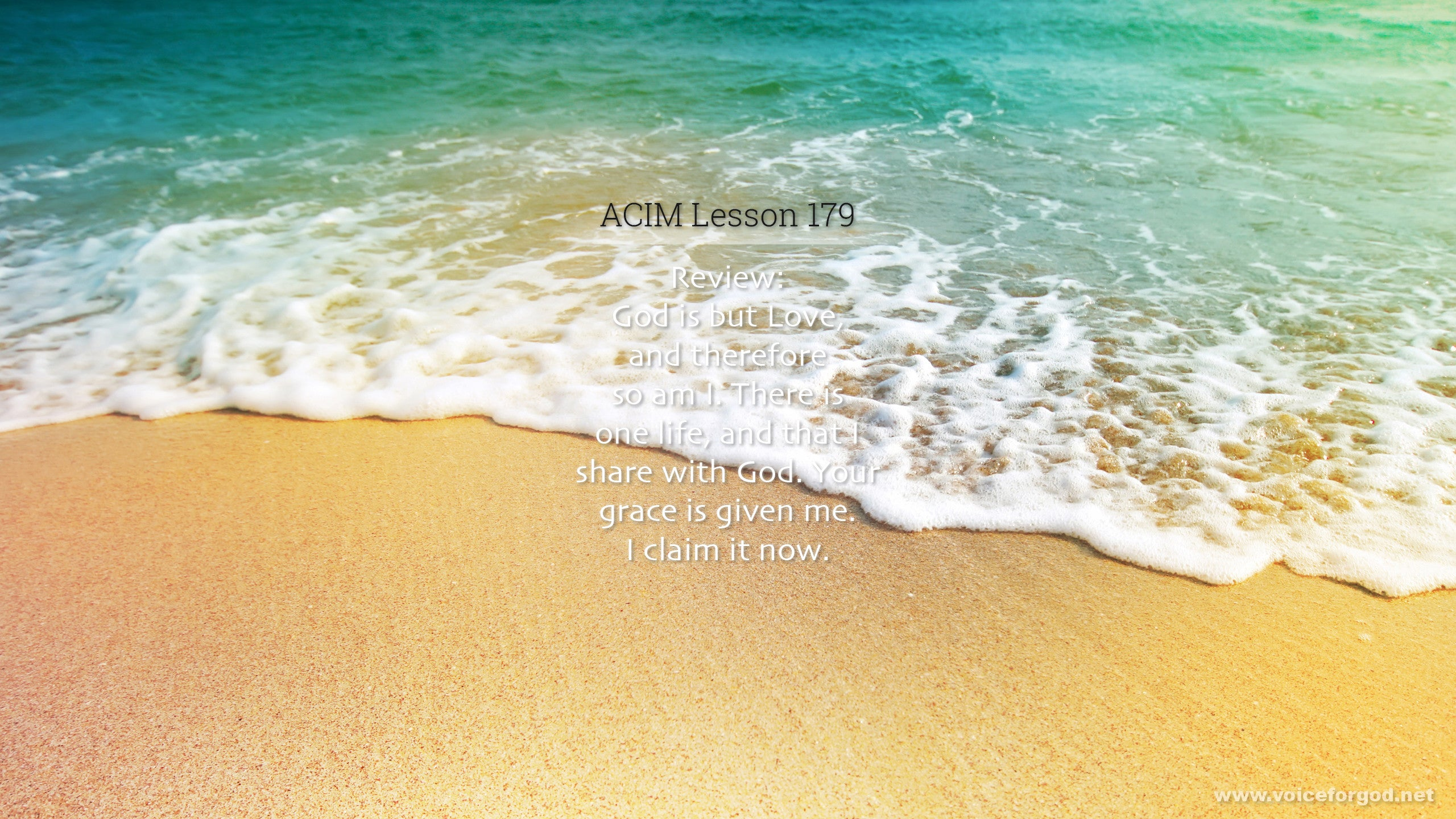 ACIM Lesson 179 - A Course in Miracles Workbook Lesson 179
