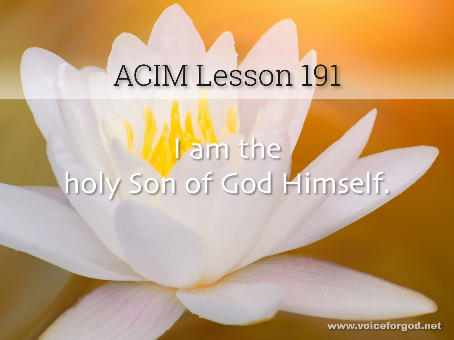 ACIM Lesson 191 - A Course in Miracles Workbook Lesson 191