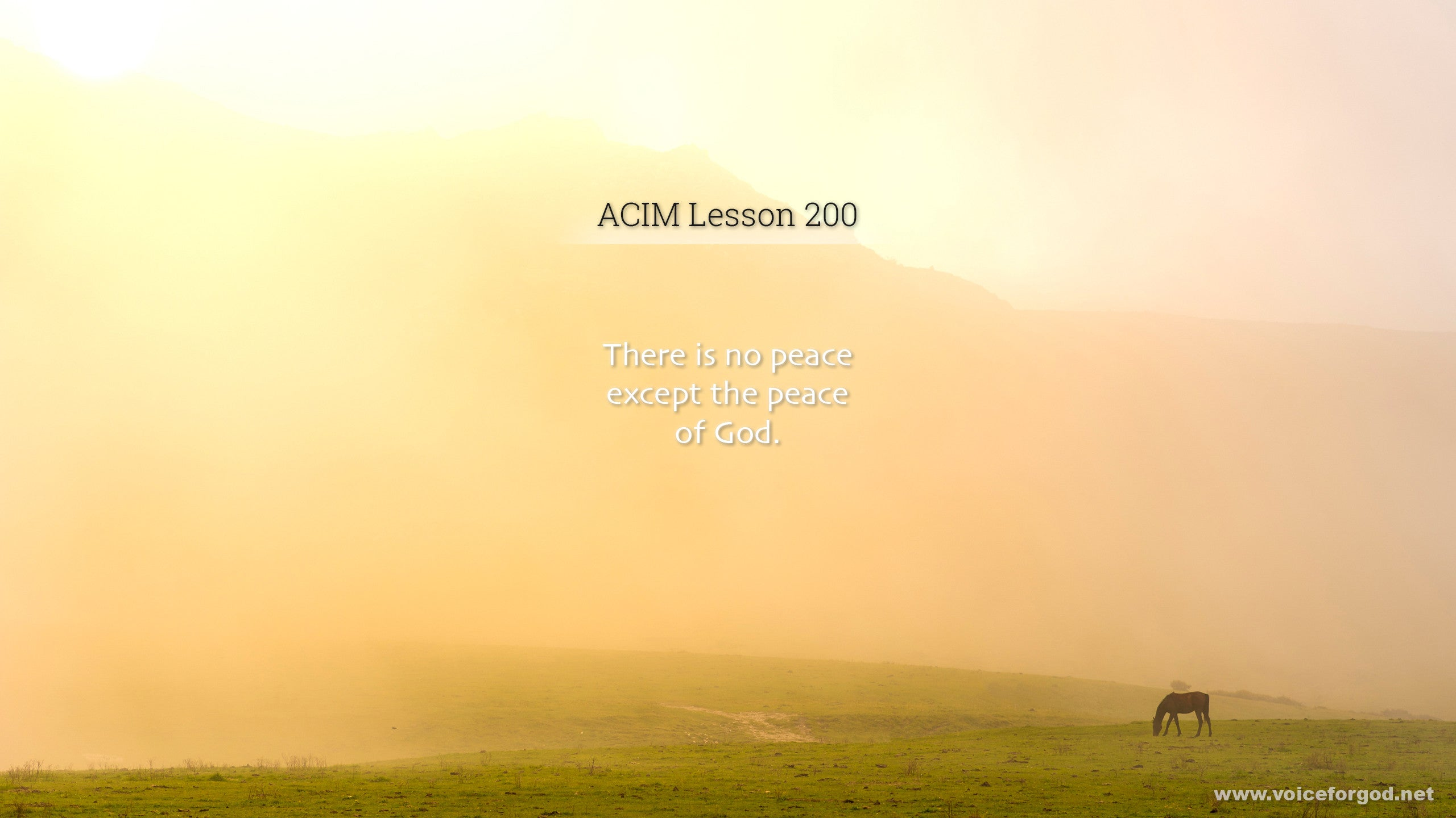 ACIM Lesson 200 - A Course in Miracles Workbook Lesson 200