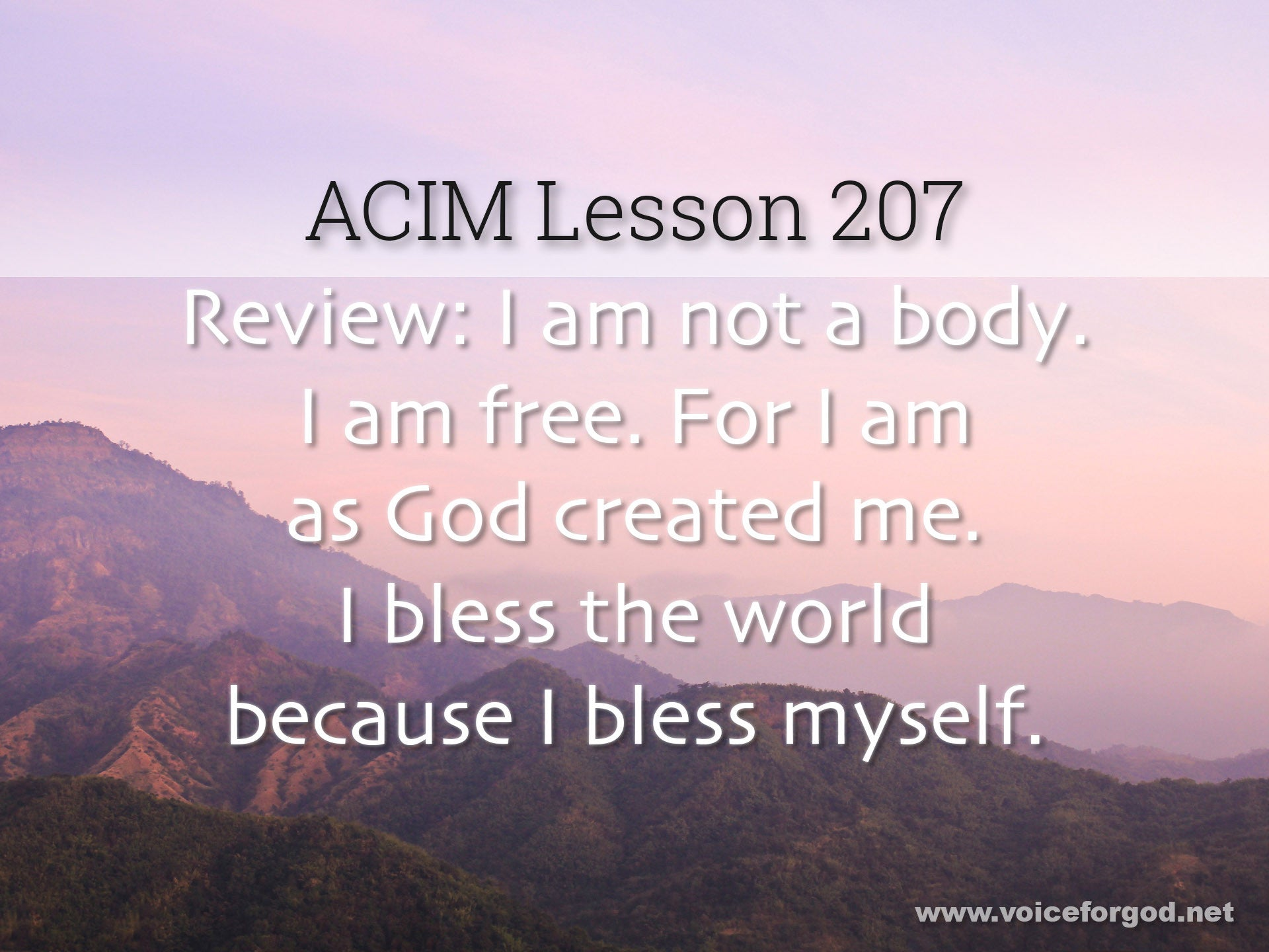 ACIM Lesson 207 - A Course in Miracles Workbook Lesson 207