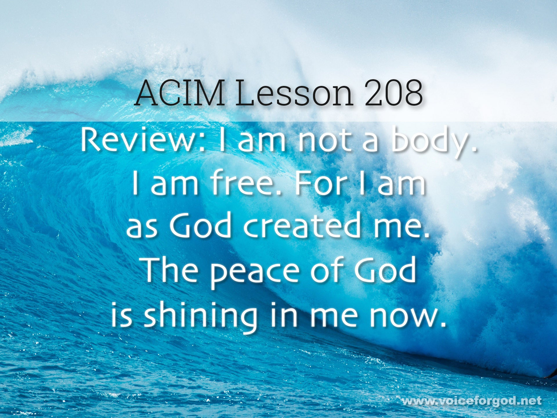 ACIM Lesson 208 - A Course in Miracles Workbook Lesson 208