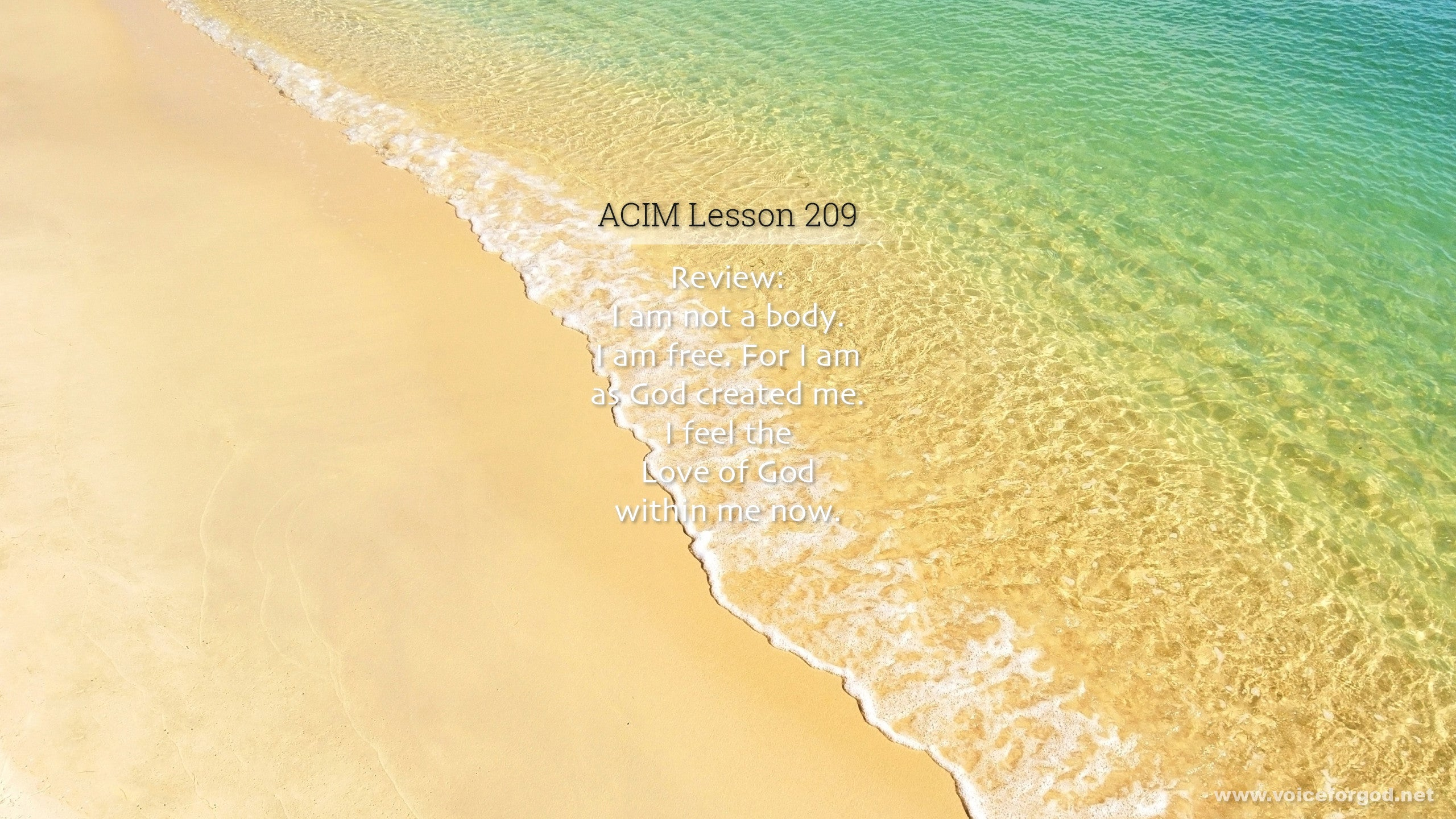 ACIM Lesson 209 - A Course in Miracles Workbook Lesson 209