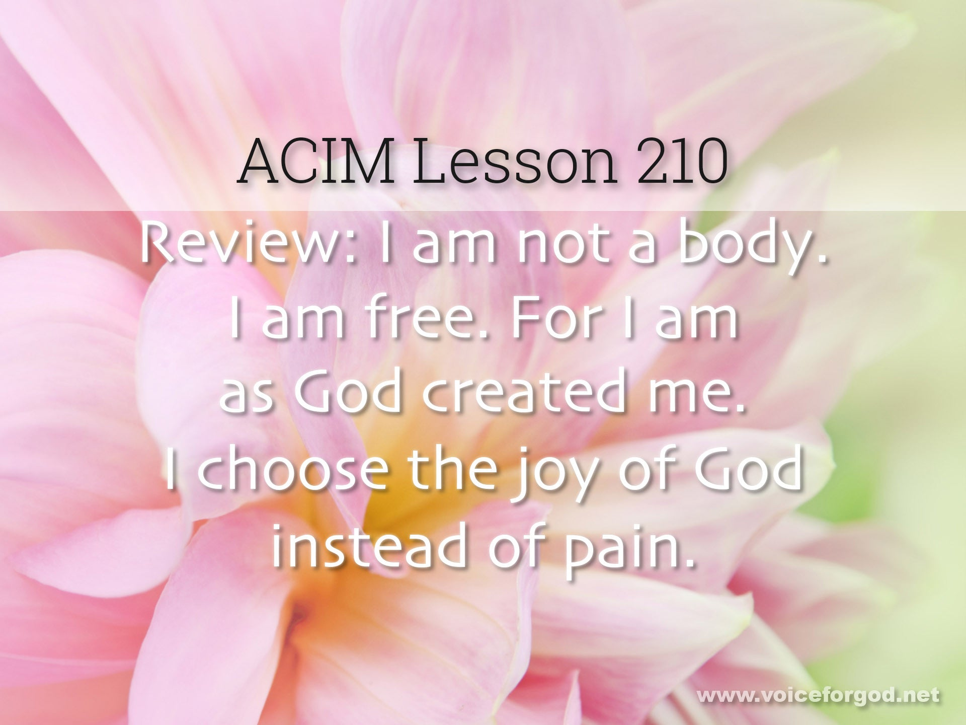 ACIM Lesson 210 - A Course in Miracles Workbook Lesson 210
