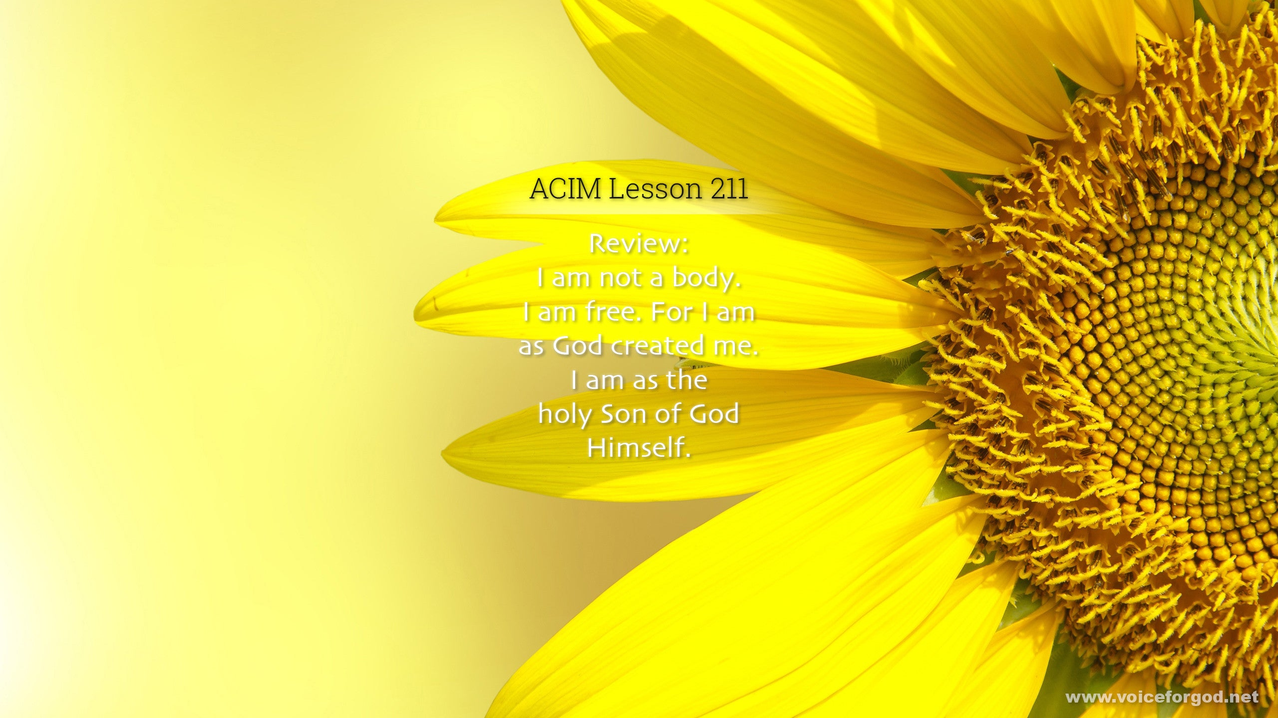 ACIM Lesson 211 - A Course in Miracles Workbook Lesson 211