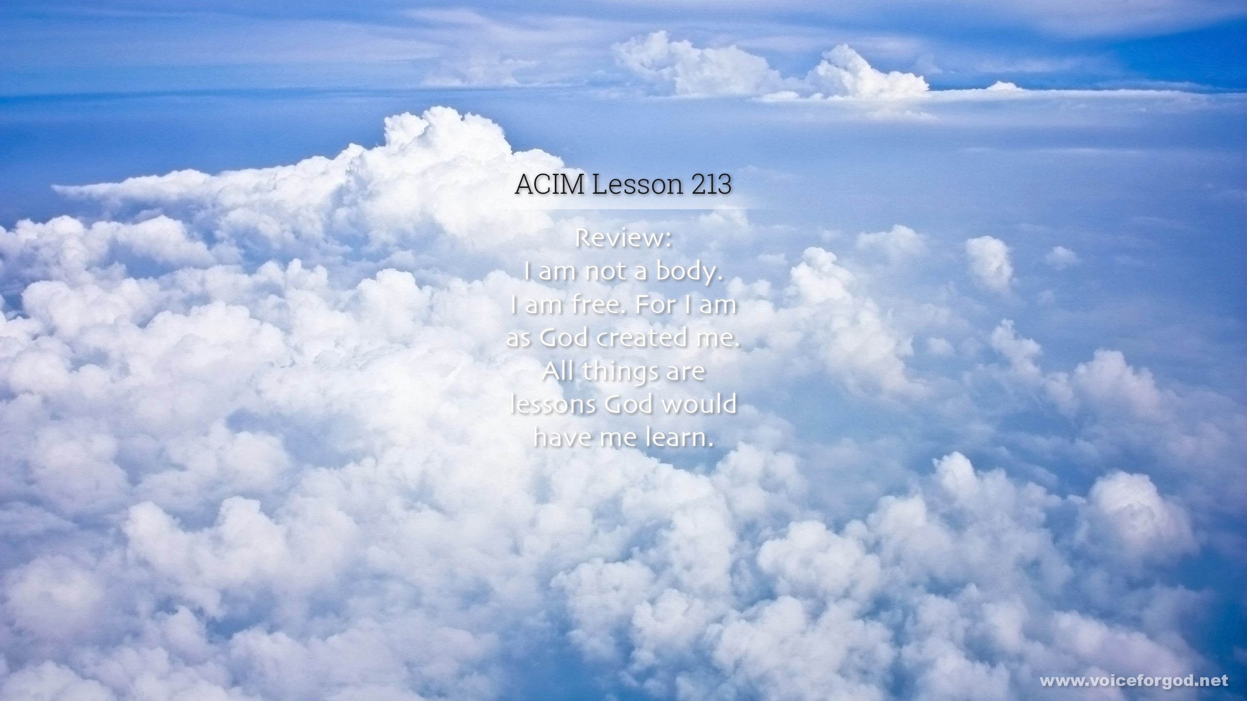 ACIM Lesson 213 - A Course in Miracles Workbook Lesson 213