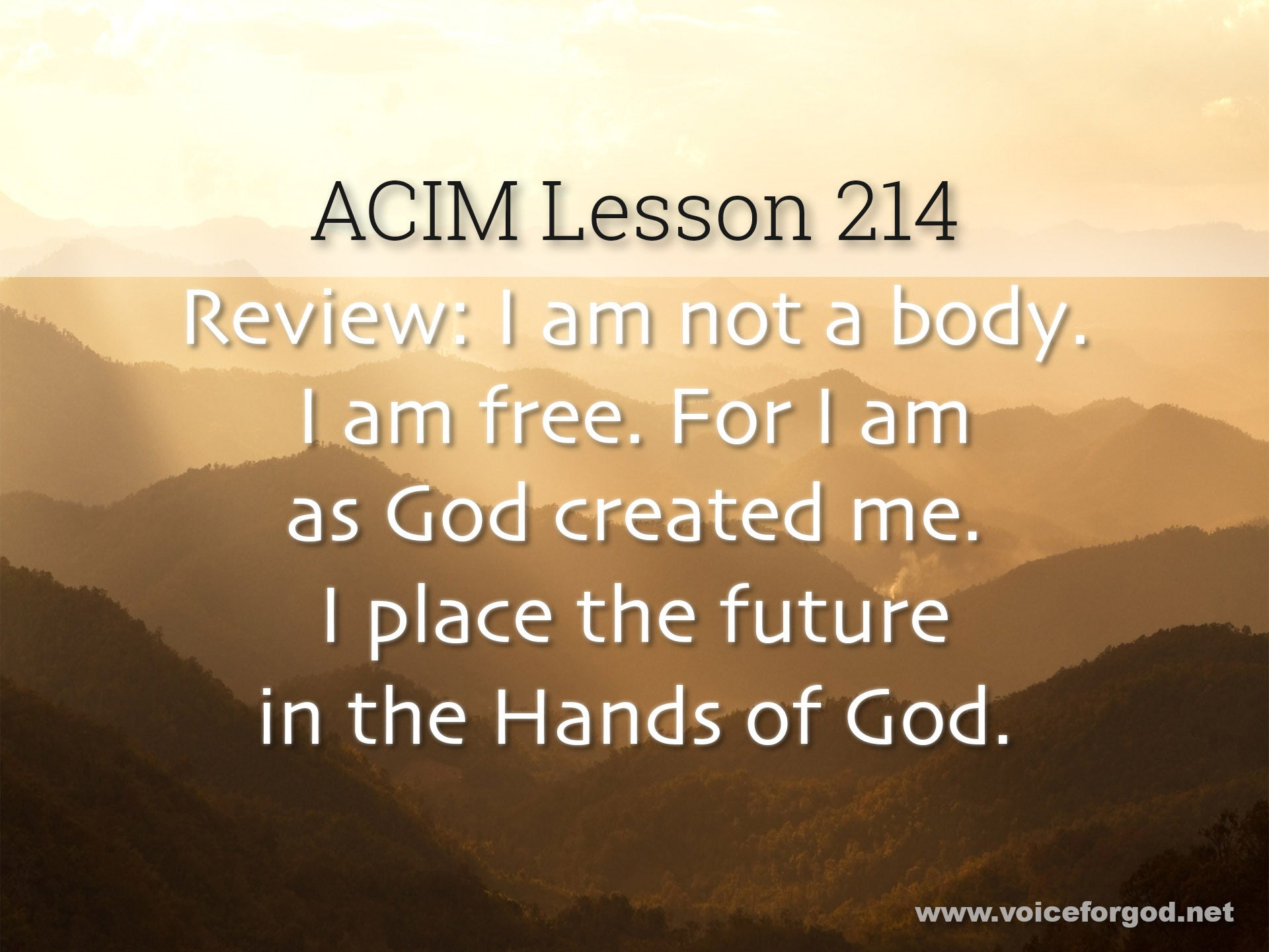 ACIM Lesson 214 - A Course in Miracles Workbook Lesson 214