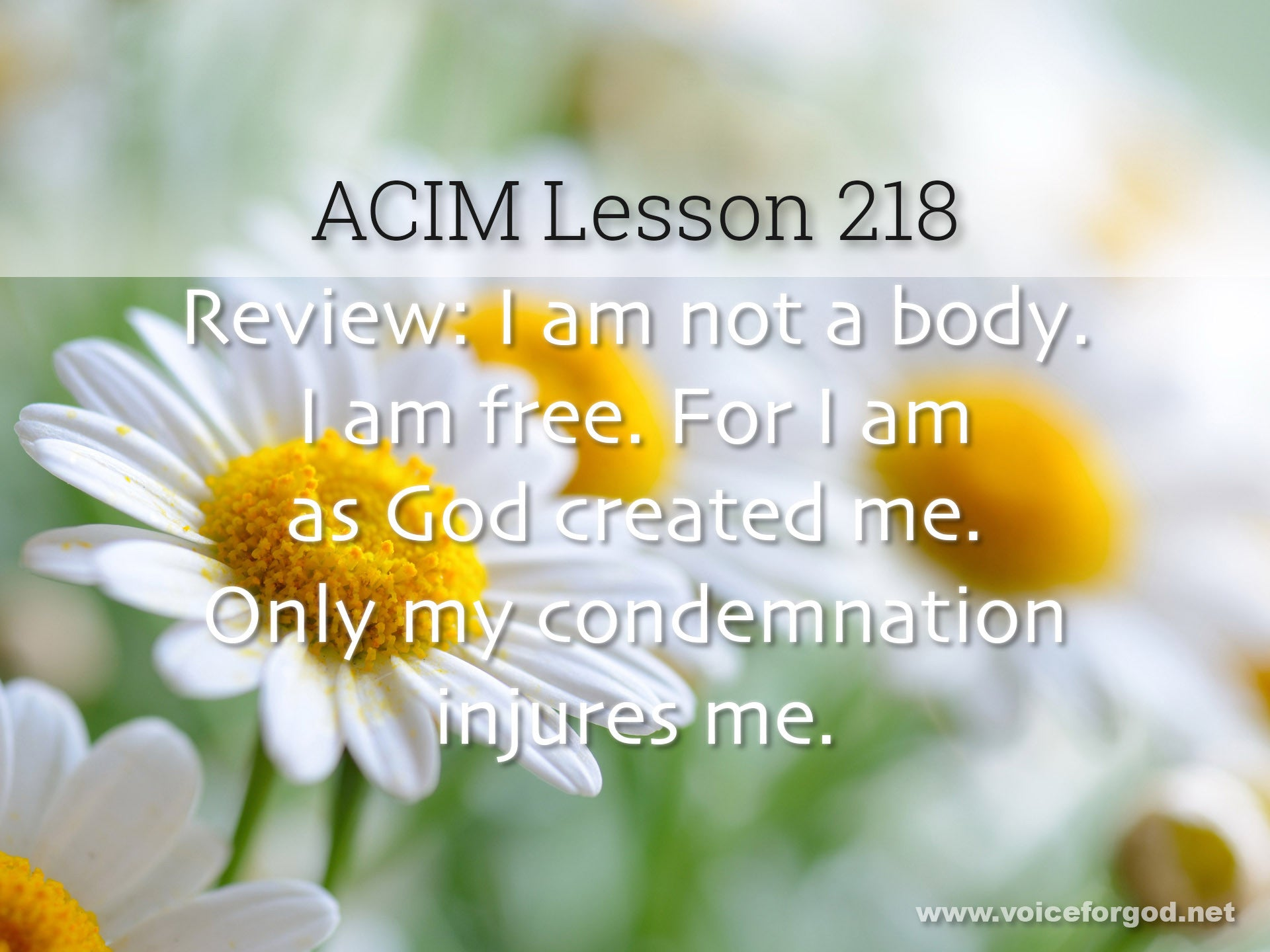 ACIM Lesson 218 - A Course in Miracles Workbook Lesson 218
