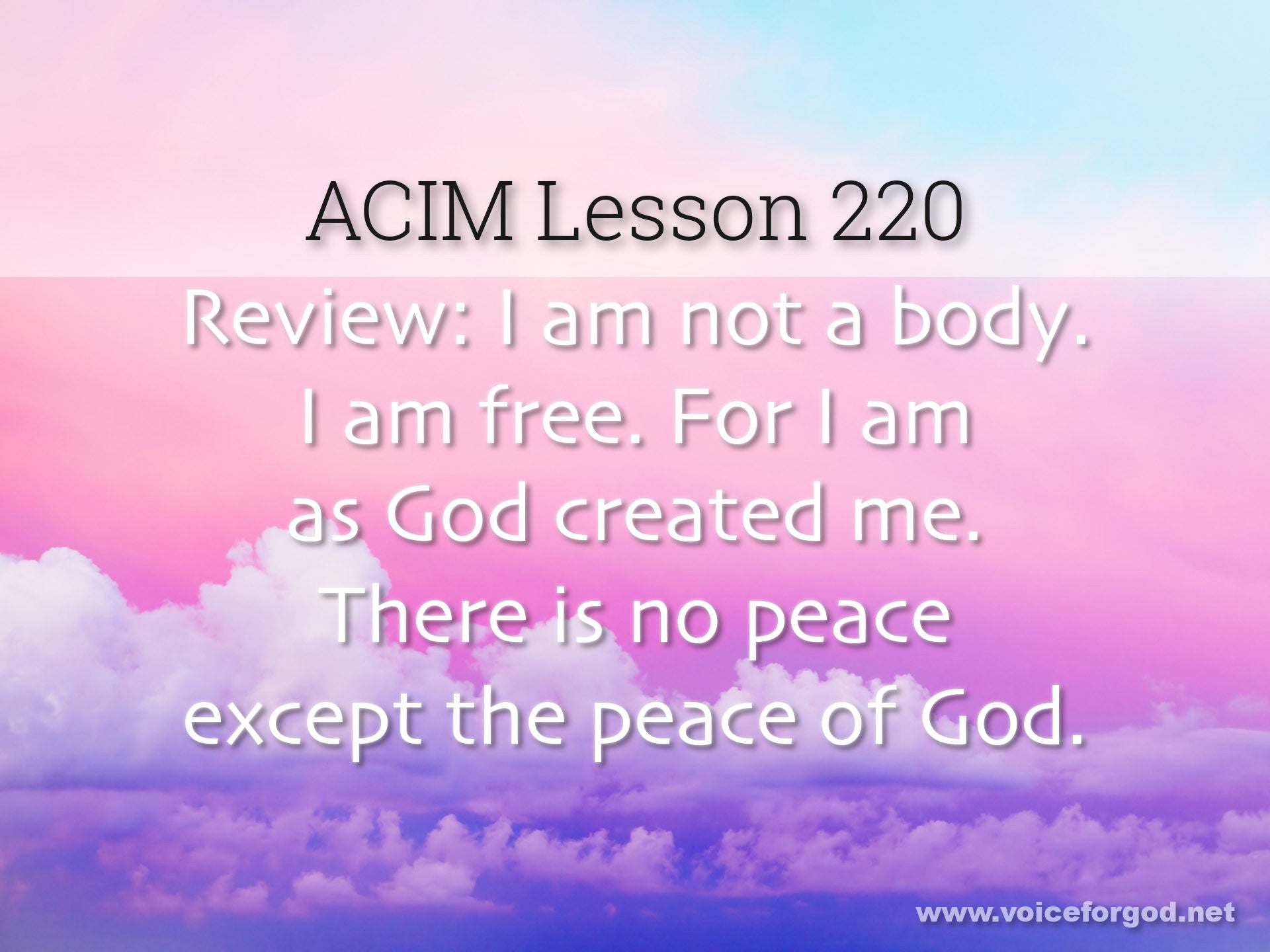 ACIM Lesson 220 - A Course in Miracles Workbook Lesson 220