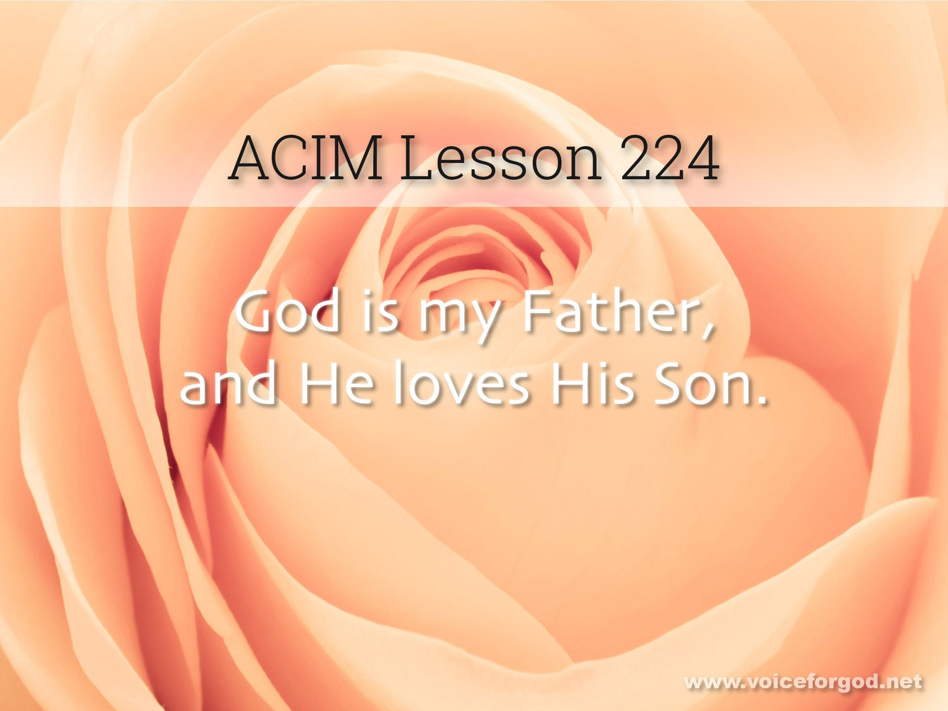 ACIM Lesson 224 - A Course in Miracles Workbook Lesson 224