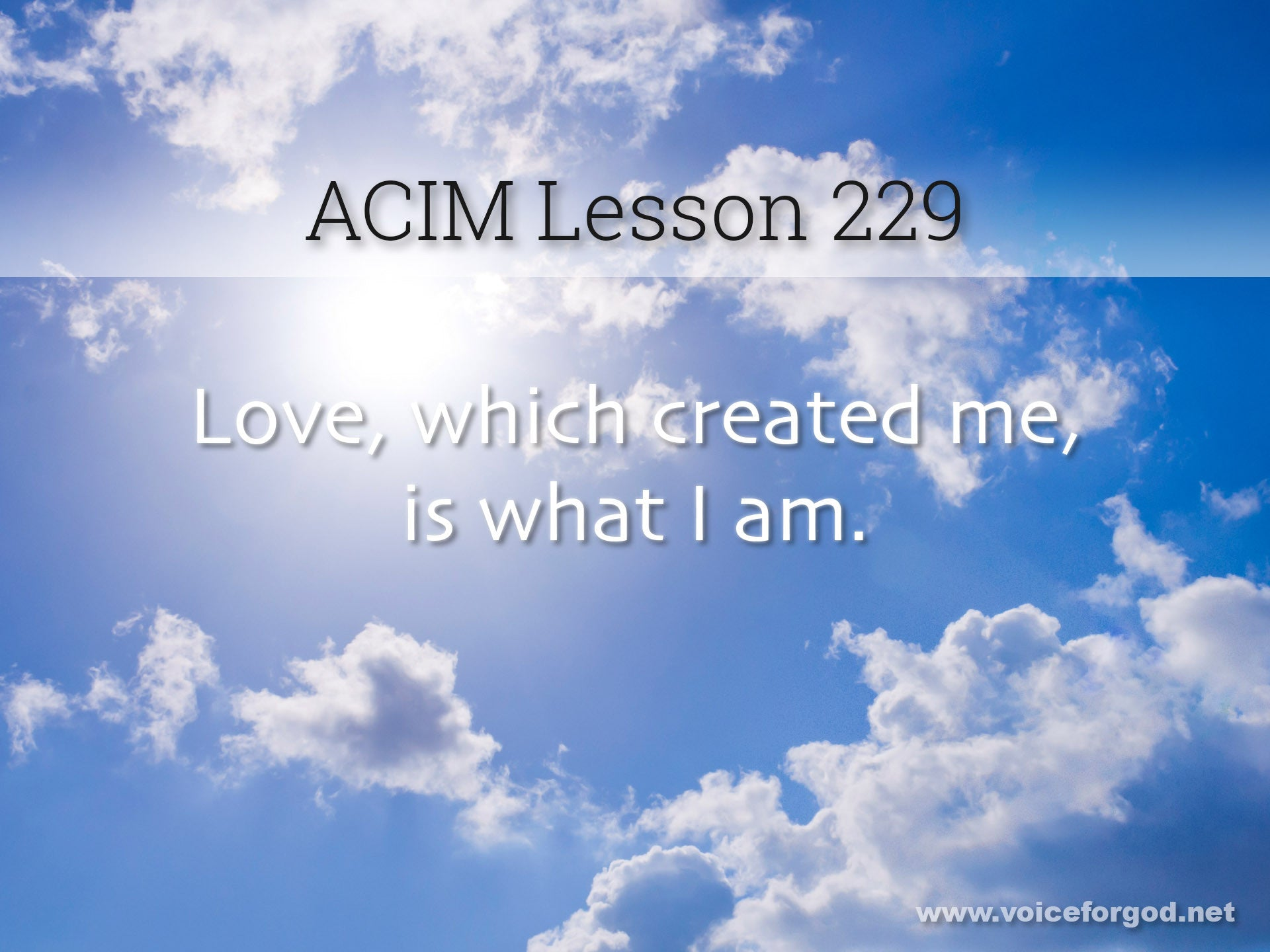 ACIM Lesson 229 - A Course in Miracles Workbook Lesson 229