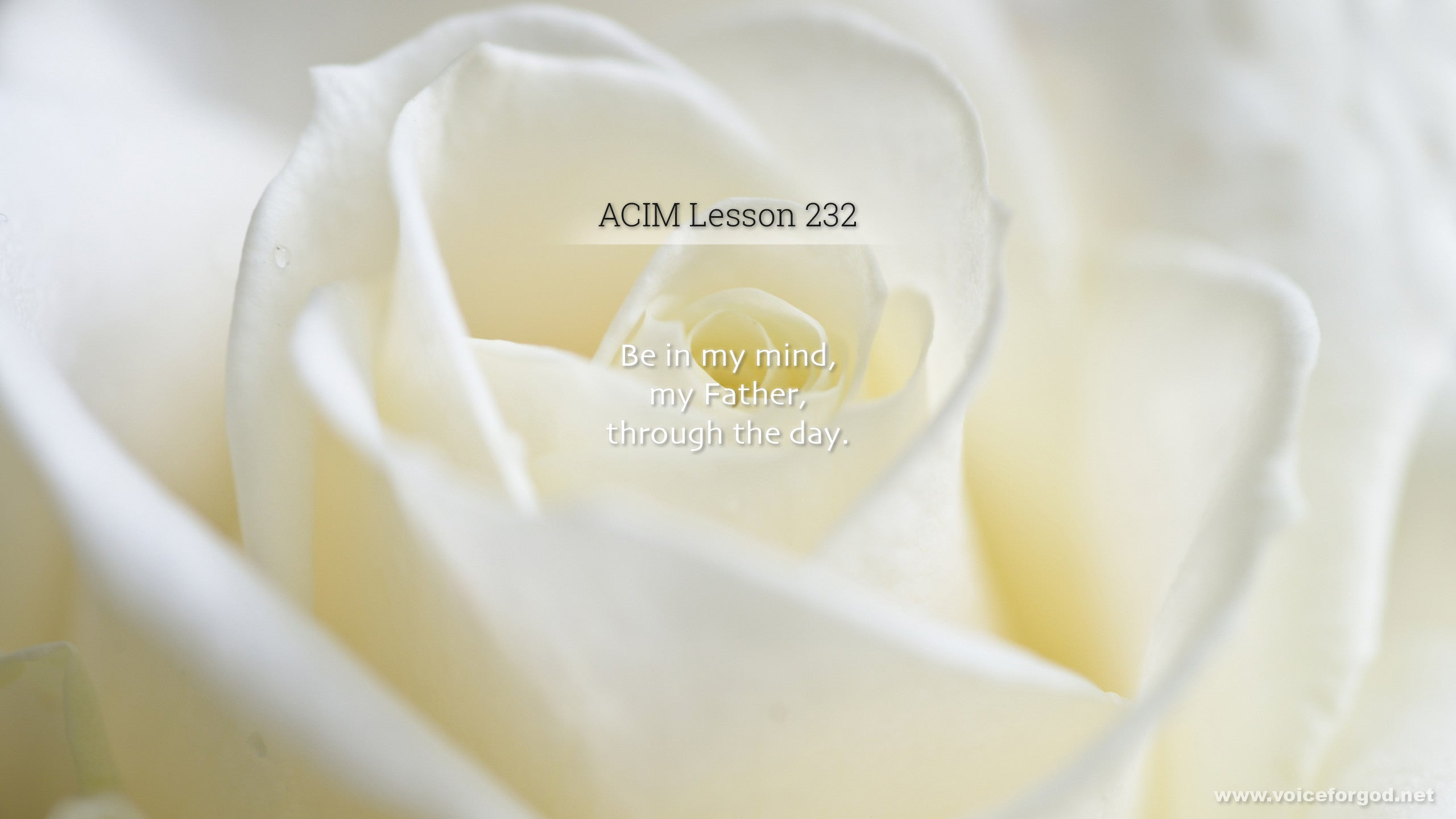 ACIM Lesson 232 - A Course in Miracles Workbook Lesson 232