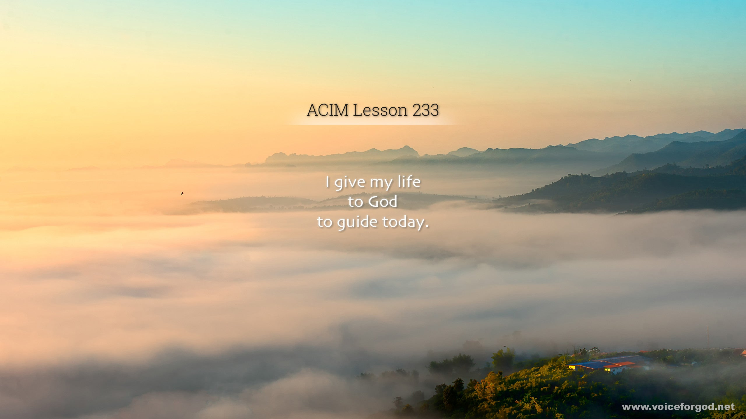 ACIM Lesson 233 - A Course in Miracles Workbook Lesson 233